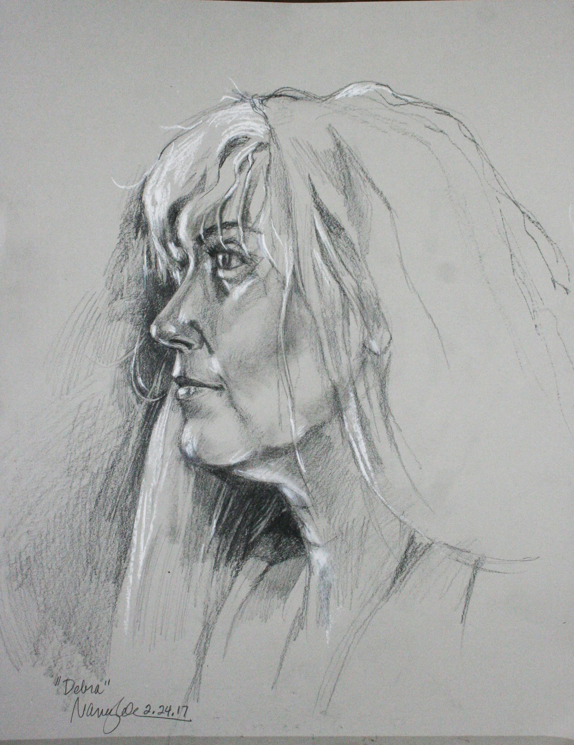 Nancy Lick did this two and a half hour drawing.