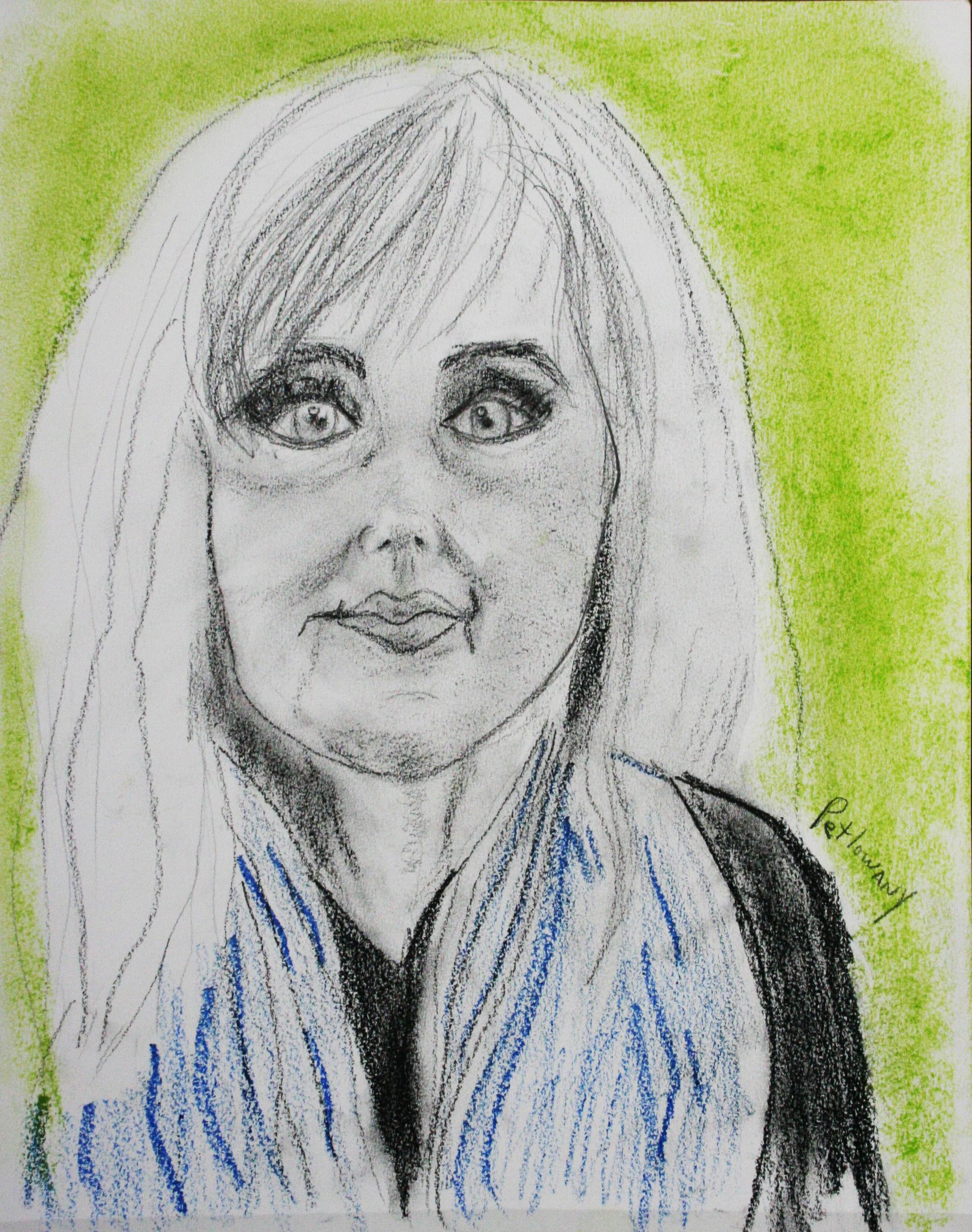 Paula Petlowany did this two and a half hour pastel drawing.