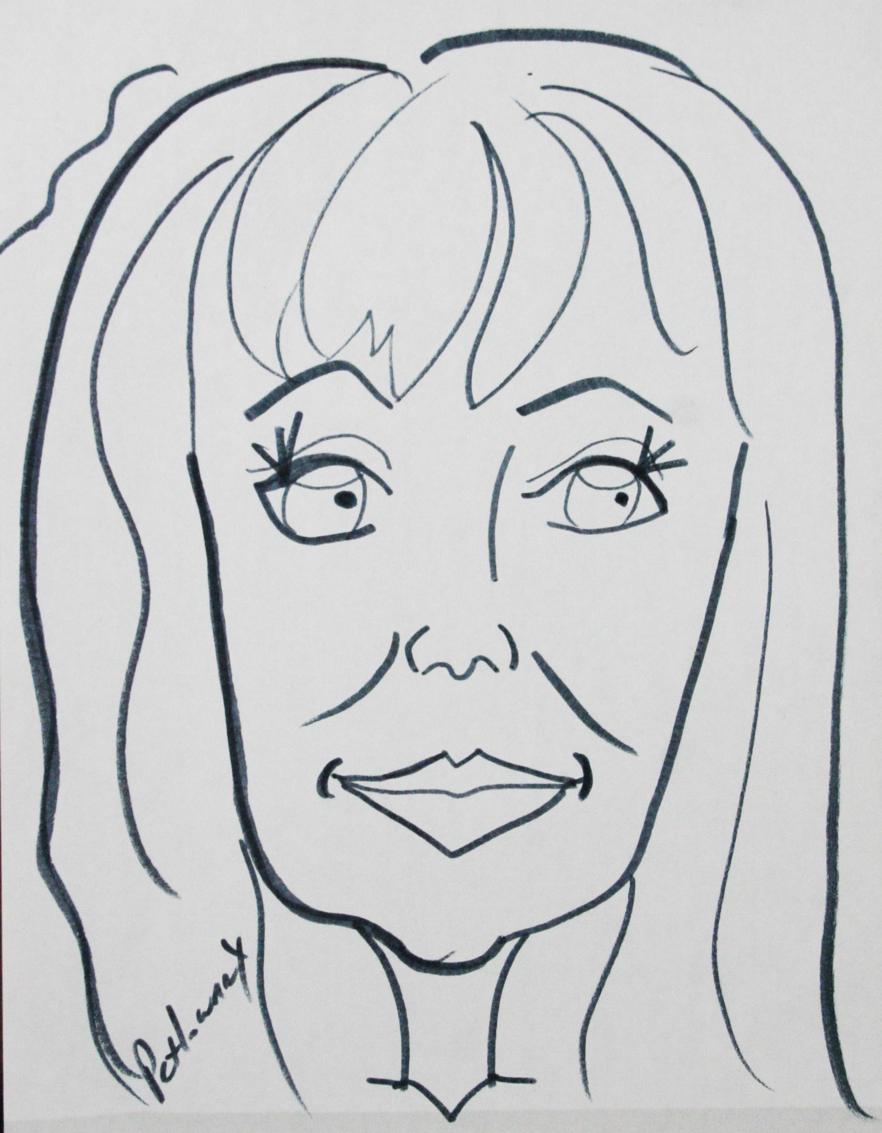 Paula Petlowany did this quick caricature.