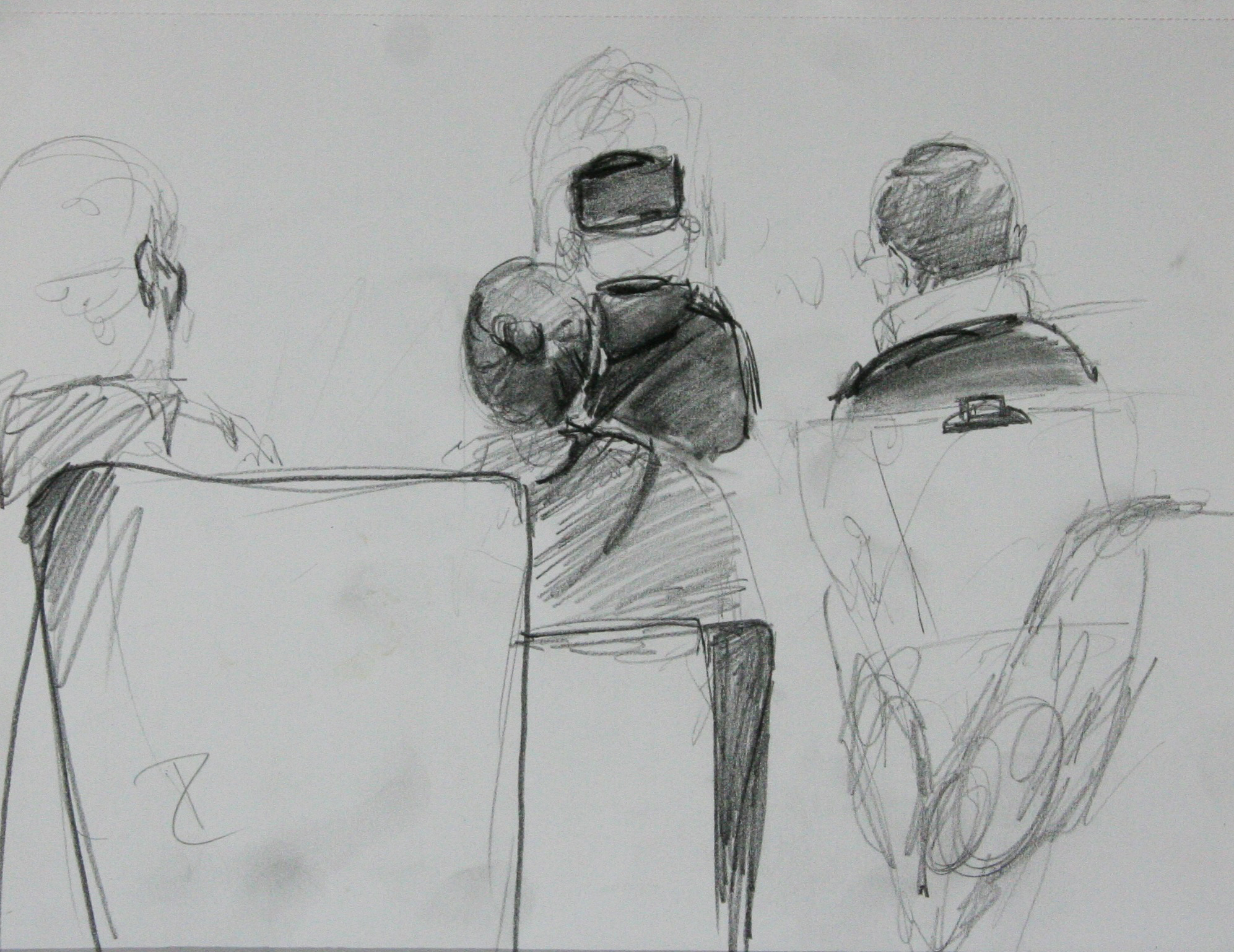 Diane Zizka did this drawing of the artists drawing Eileen.