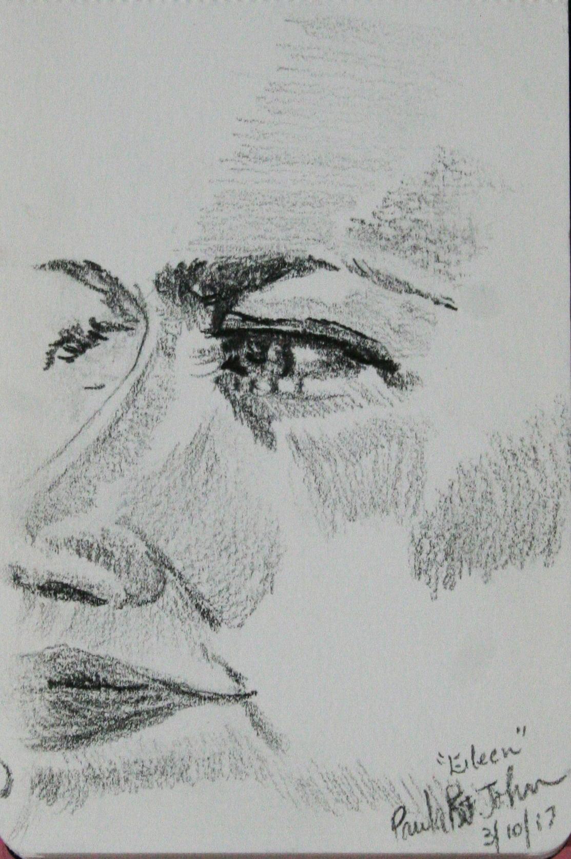 Paula Reed St. John did this sketch.