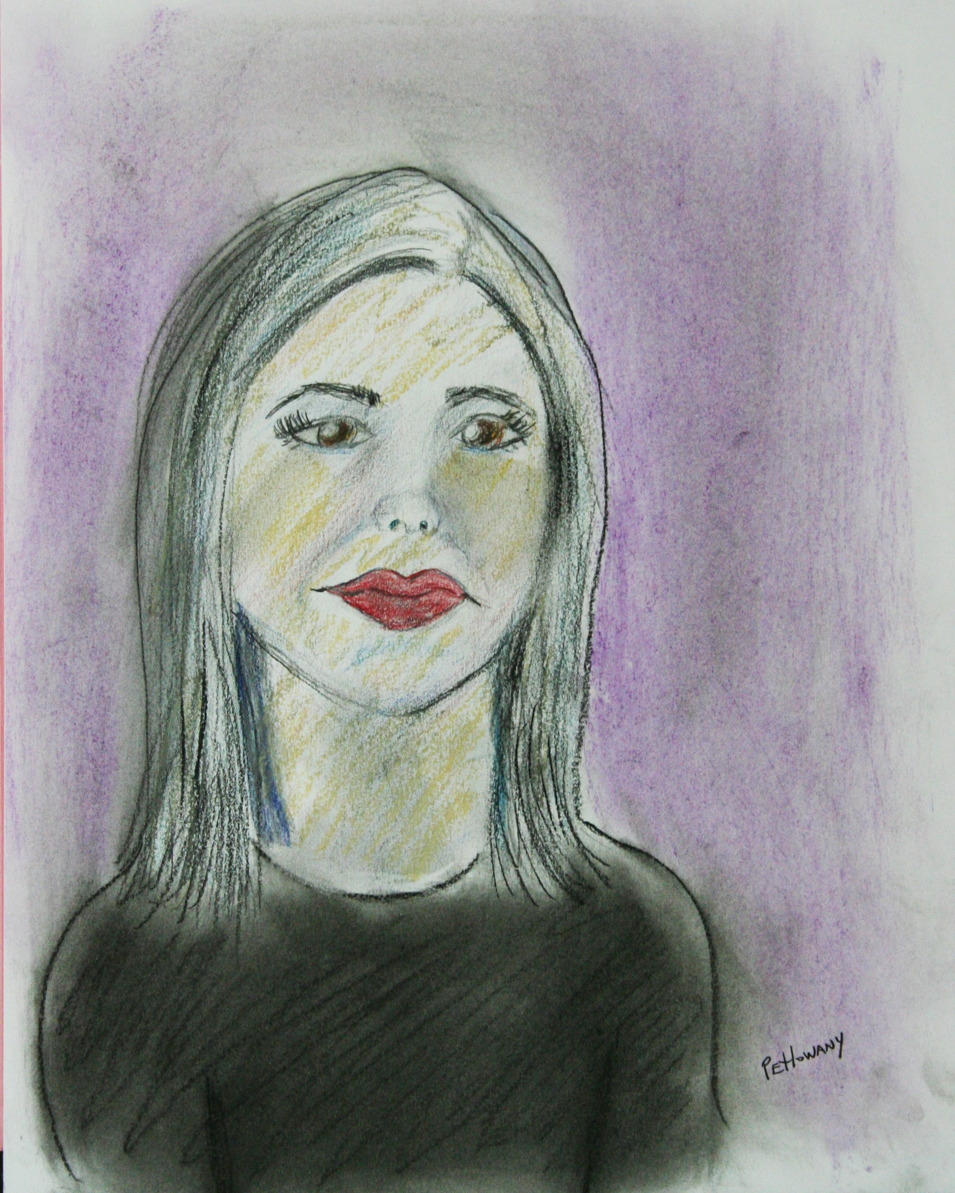 Paula Petlowany did this 2-hour pastel drawing.