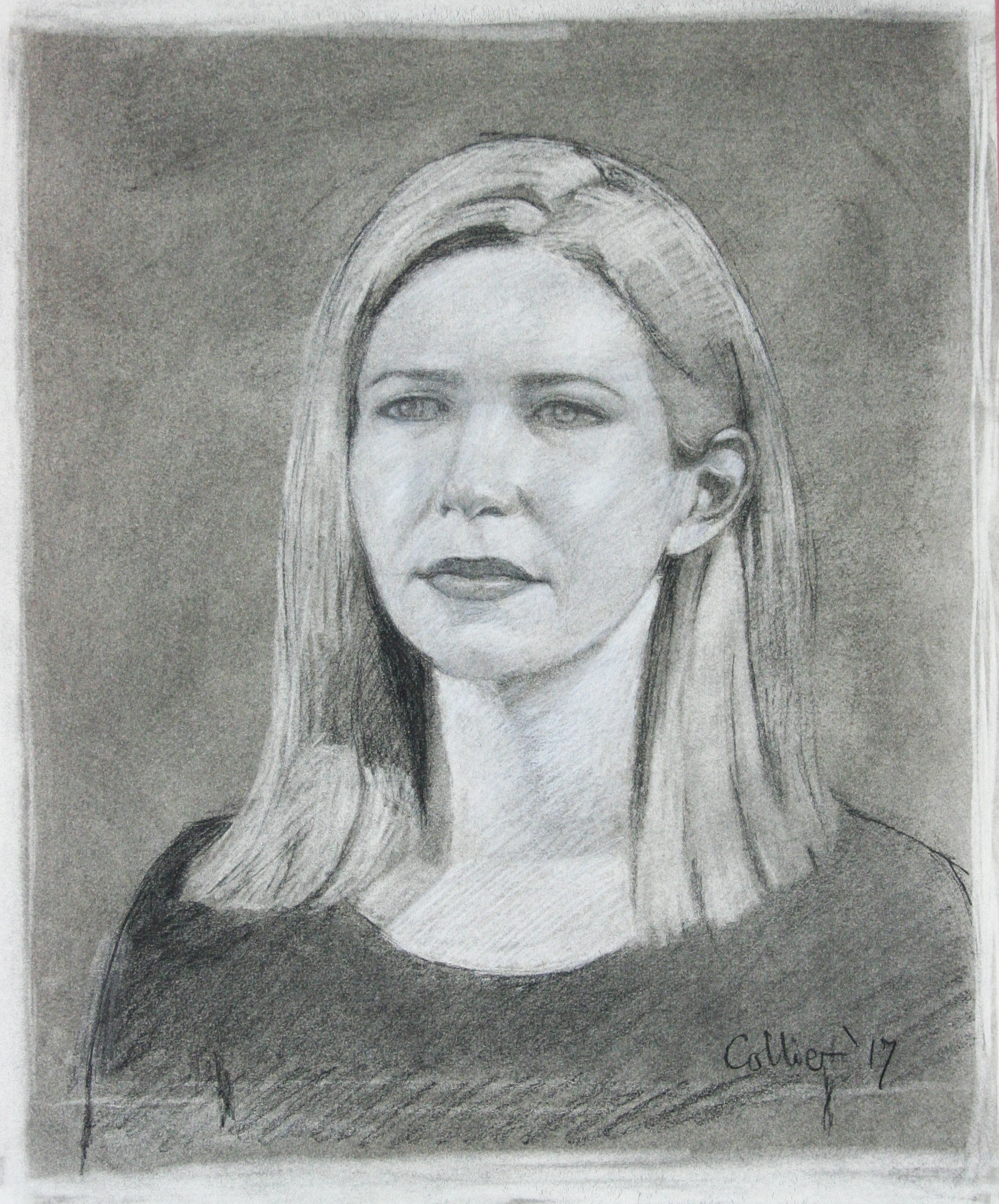 Howard Collier did this 3-hour charcoal drawing.