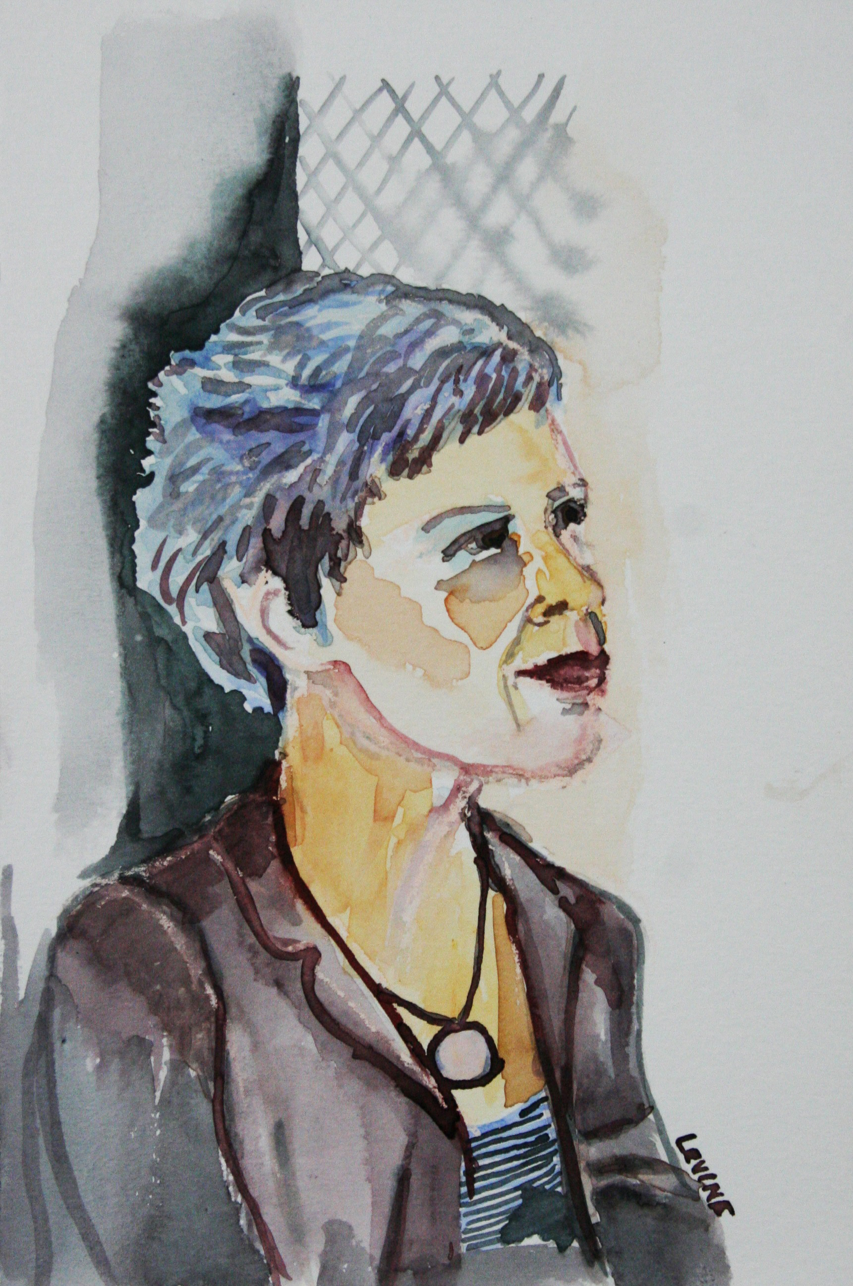 Phyllis Peterson Levine did this 3-hour watercolor drawing.
