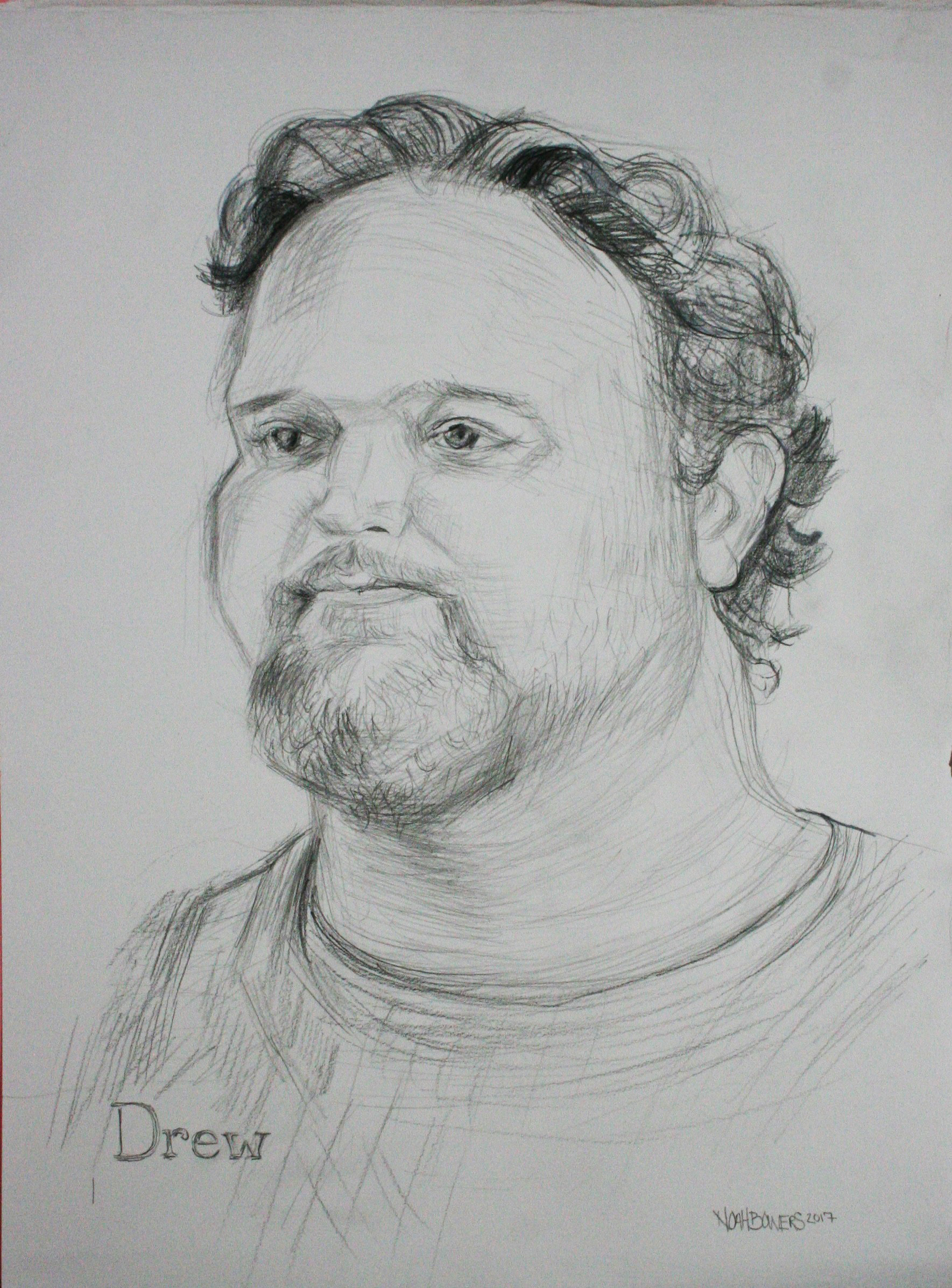 Noah Bowers did this 3-hour drawing.