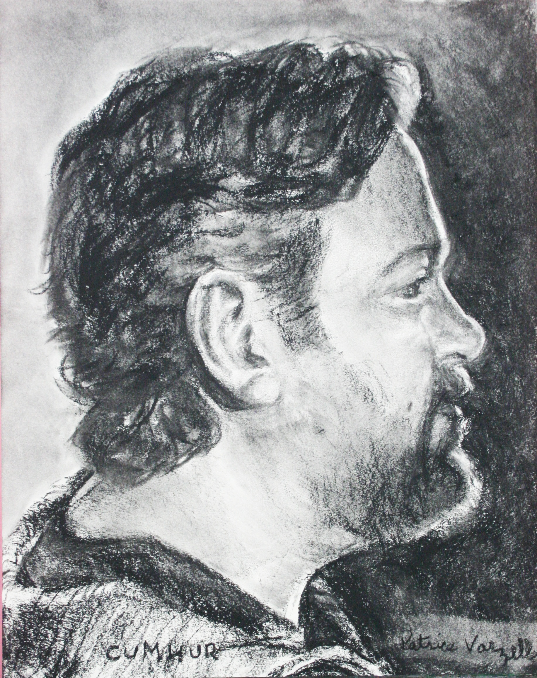 Patrice Varzelle did this 3-hour conte drawing.