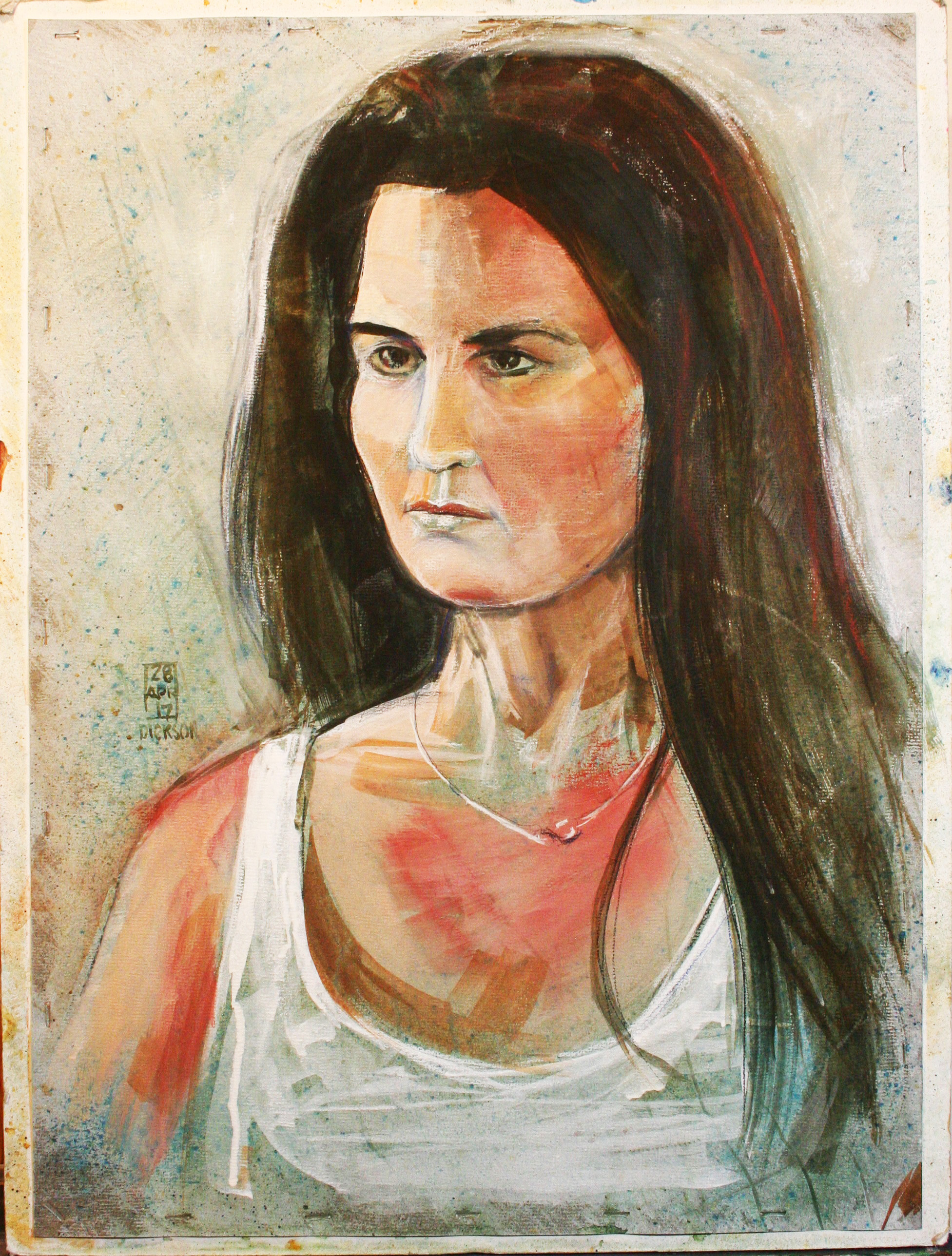 Duane Dickson did this 3-hour portrait.