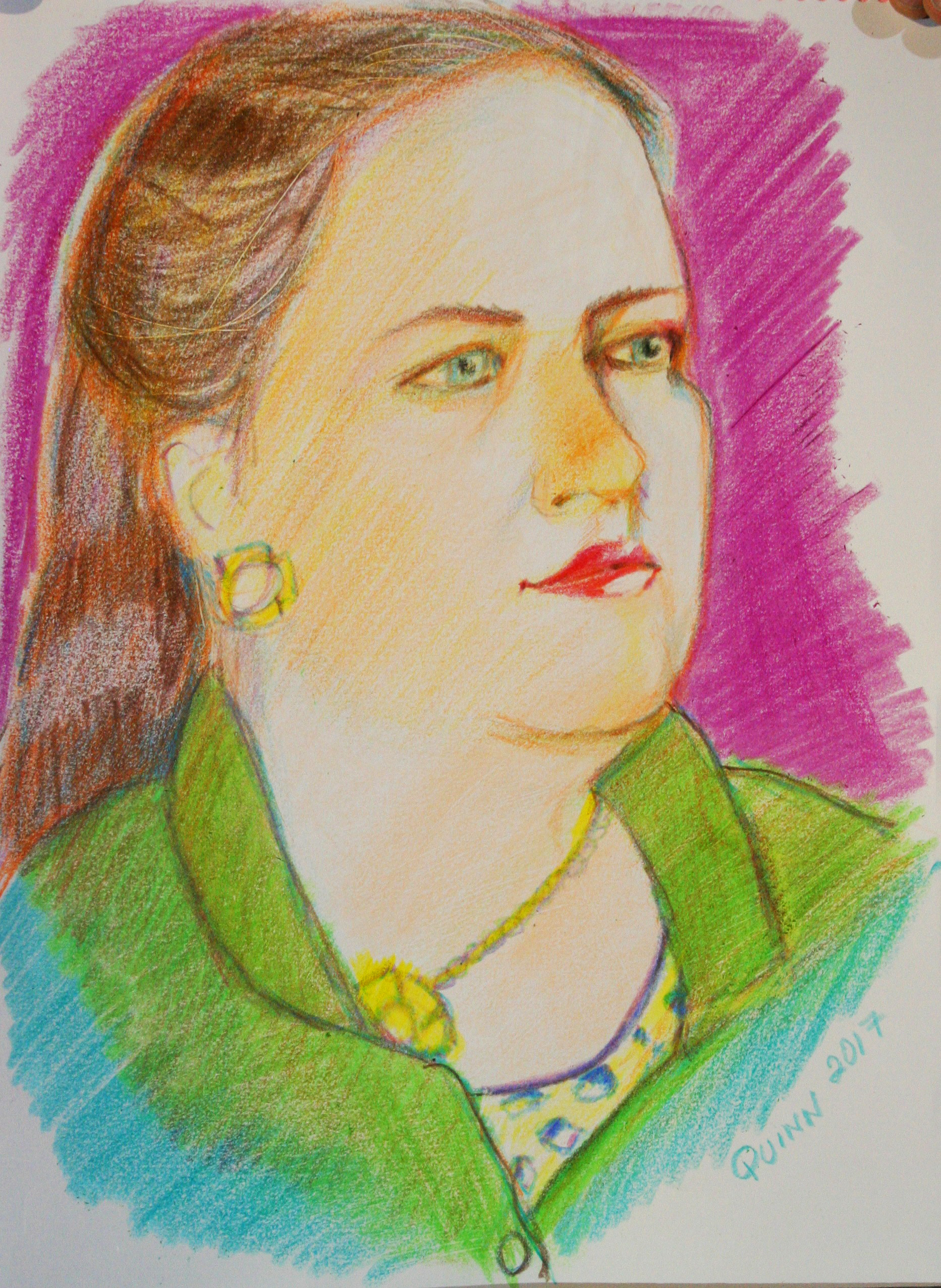 Phyllis Peterson Levine did this 3-hour crayon drawing.