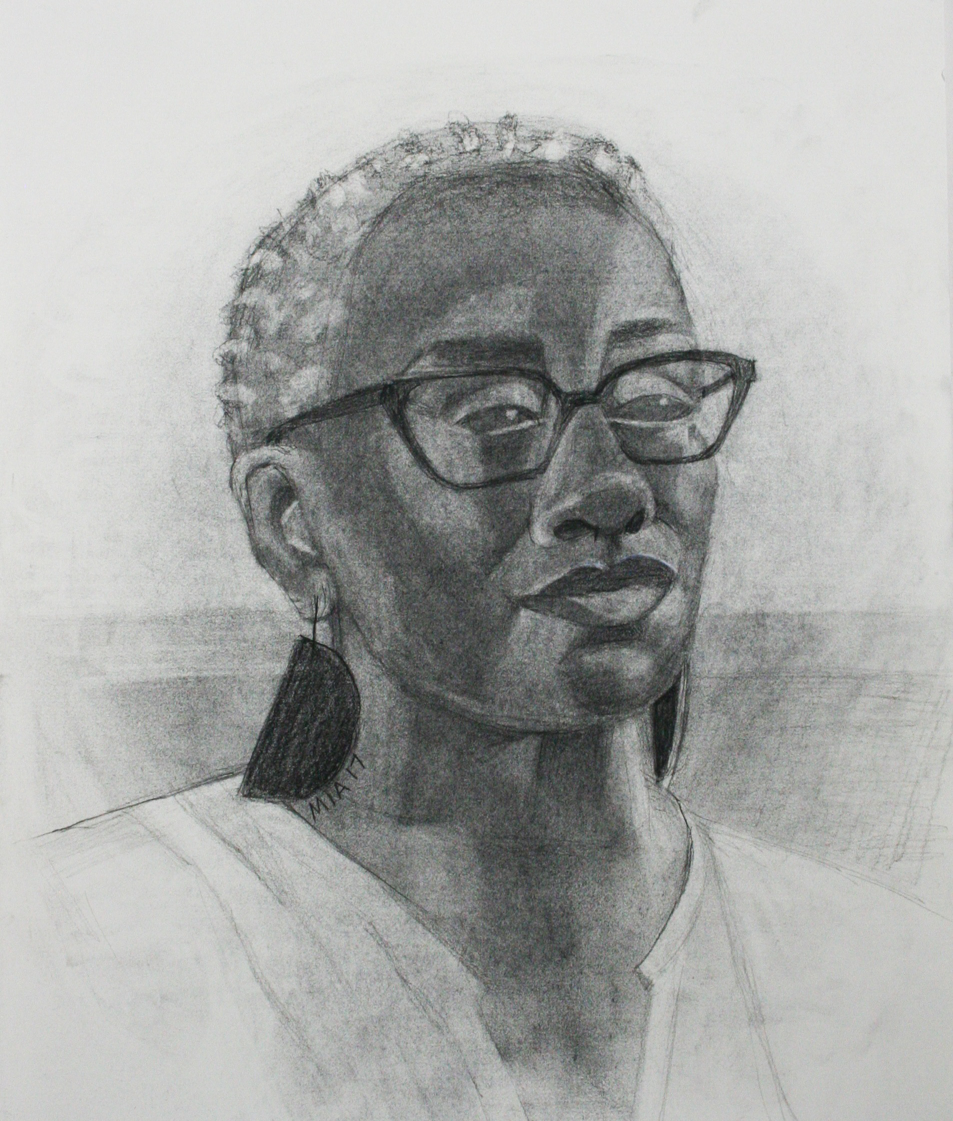 Maria Polk did this 3-hour charcoal drawing.