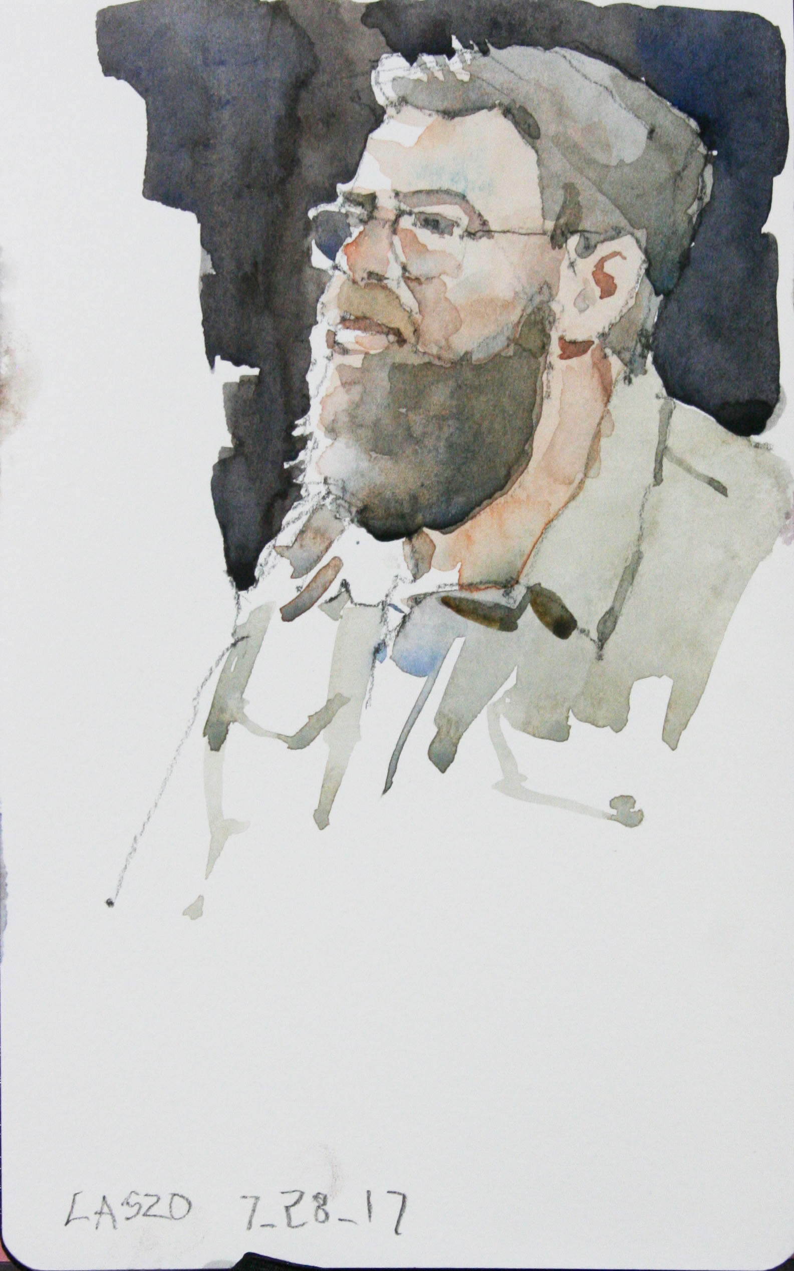 Jeff Suntala did this 45 minute watercolor.