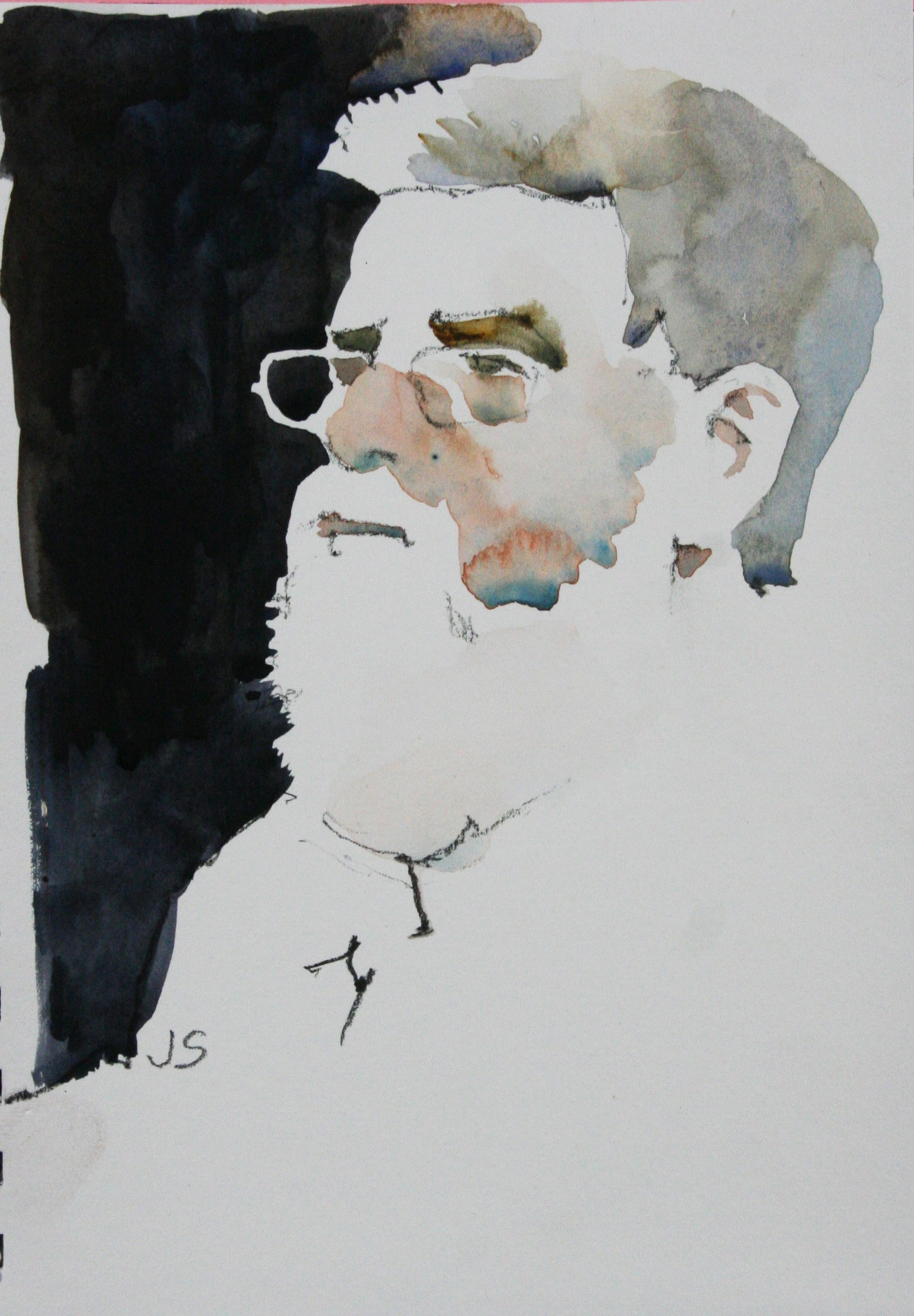 Jeff Suntala did this half hour watercolor.