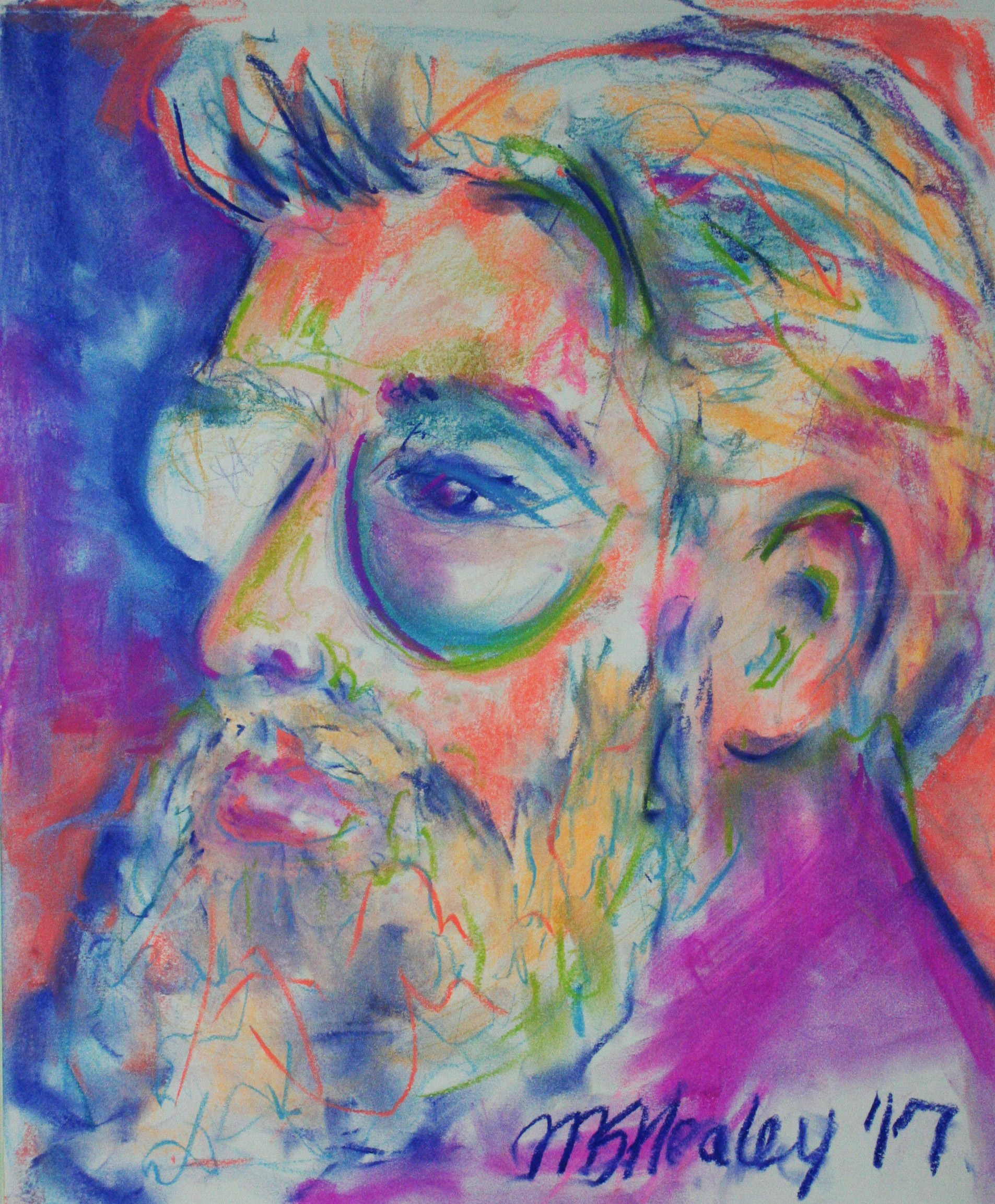 Margaret Schnell Healey did this half hour pastel drawing.