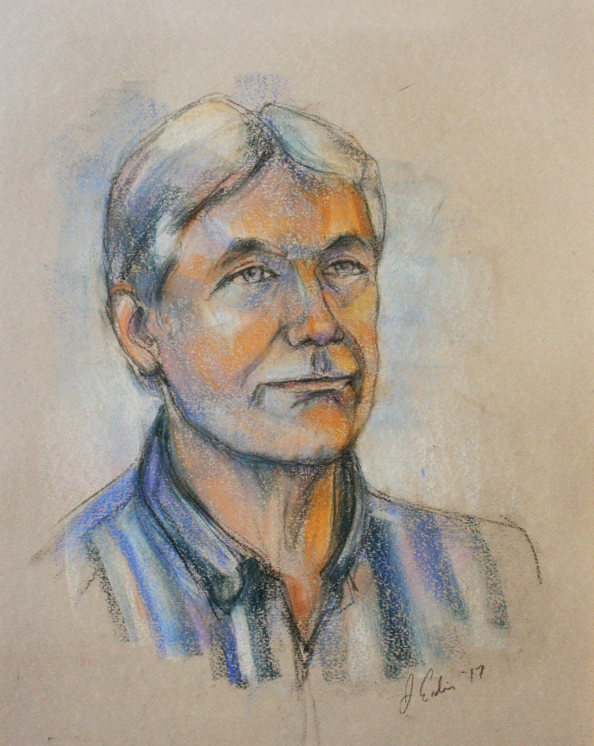 Jeff Erdie did this 3-hour pastel drawing.