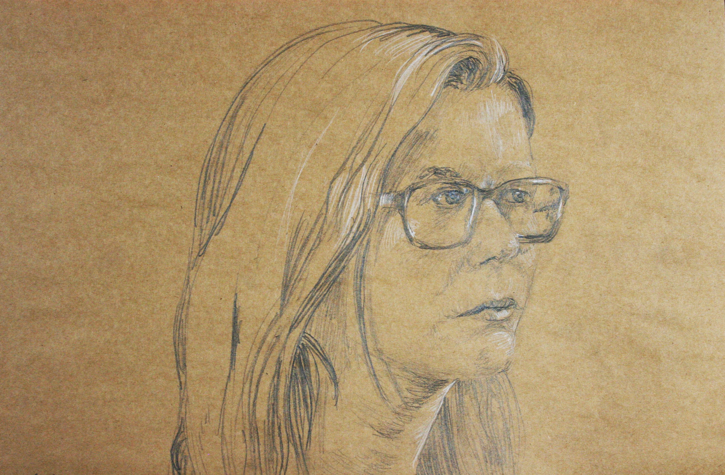 KIm Kristensen did this 2-hour drawing of his daughter.