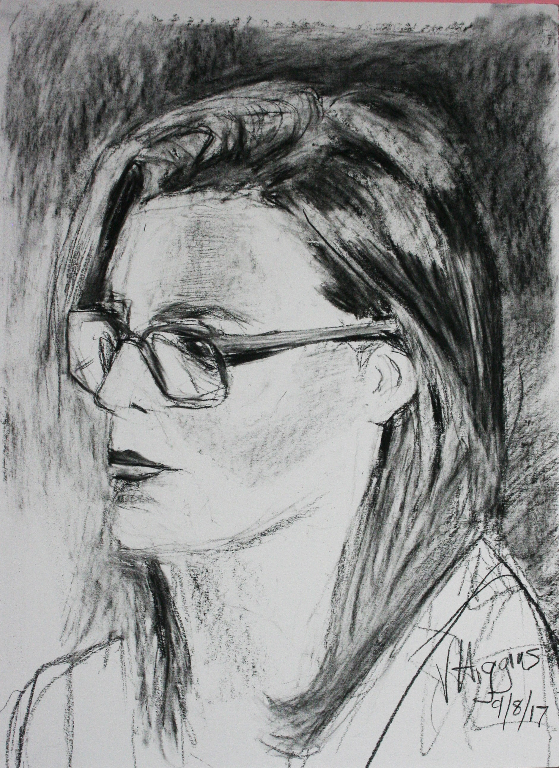 Victoria Higgins did this hour and a half drawing.