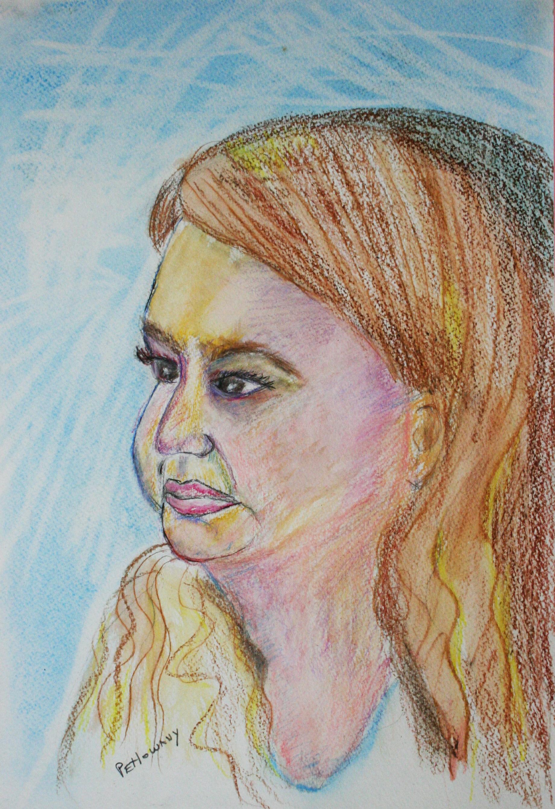Paula Petlowany did this pastel drawing.