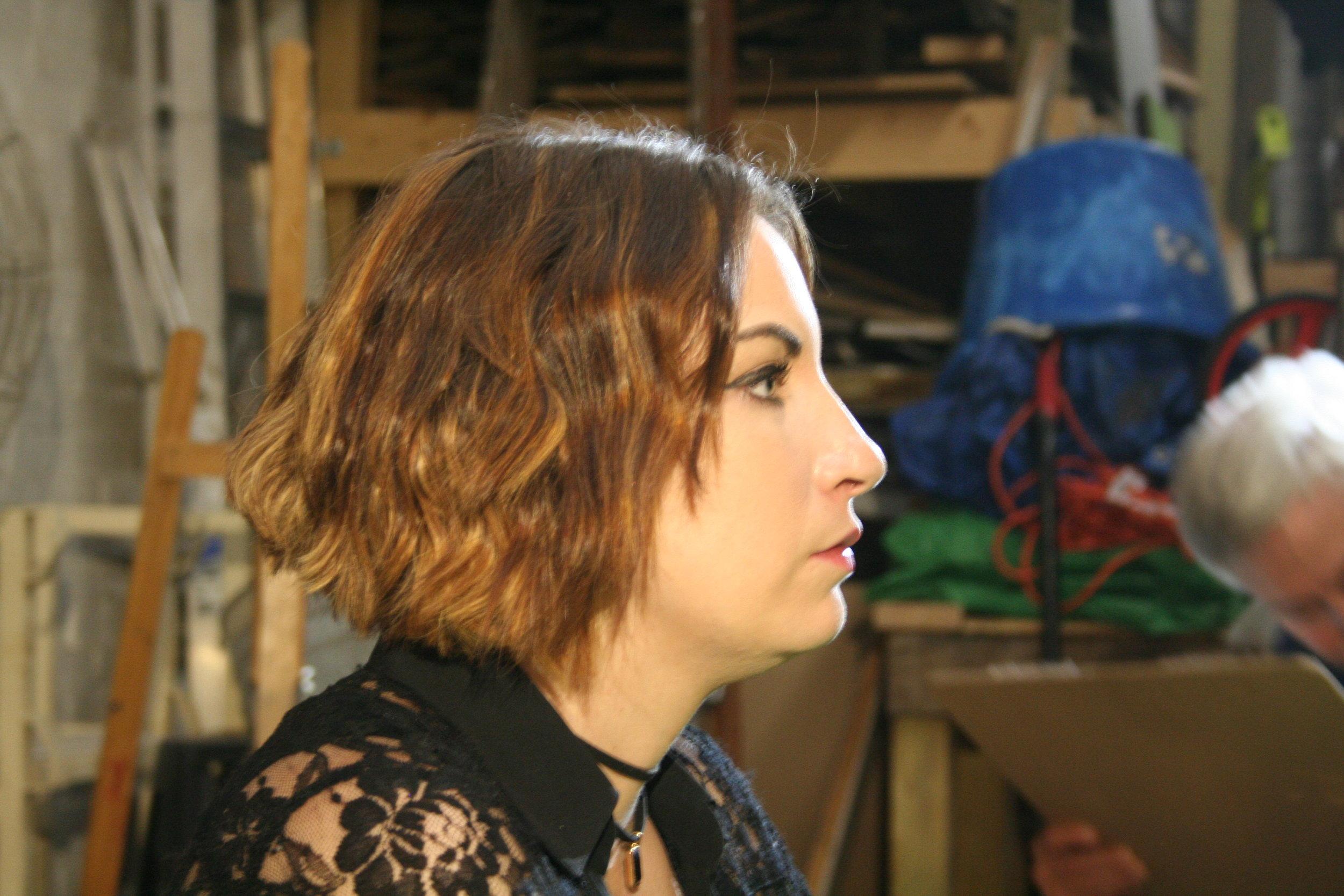 Maggie Schwenk at Forest City Brewery..JPG