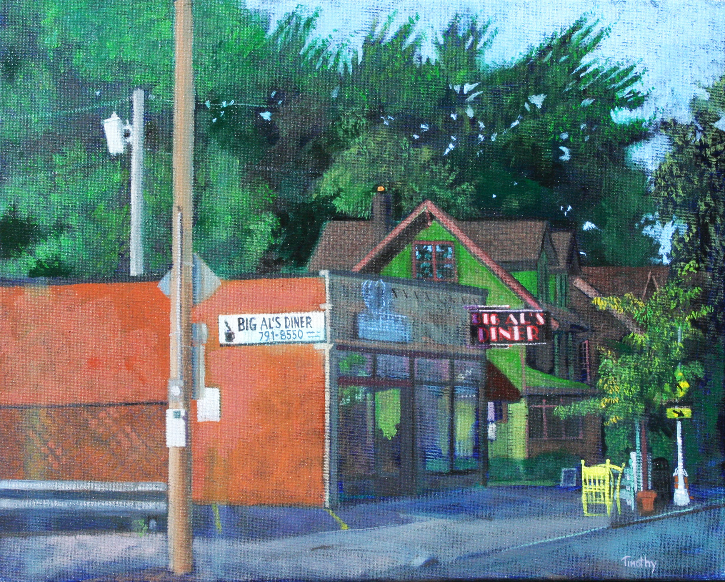 Big Al's Diner on Larchmere. Painted on location - about 7-two hour sessions.