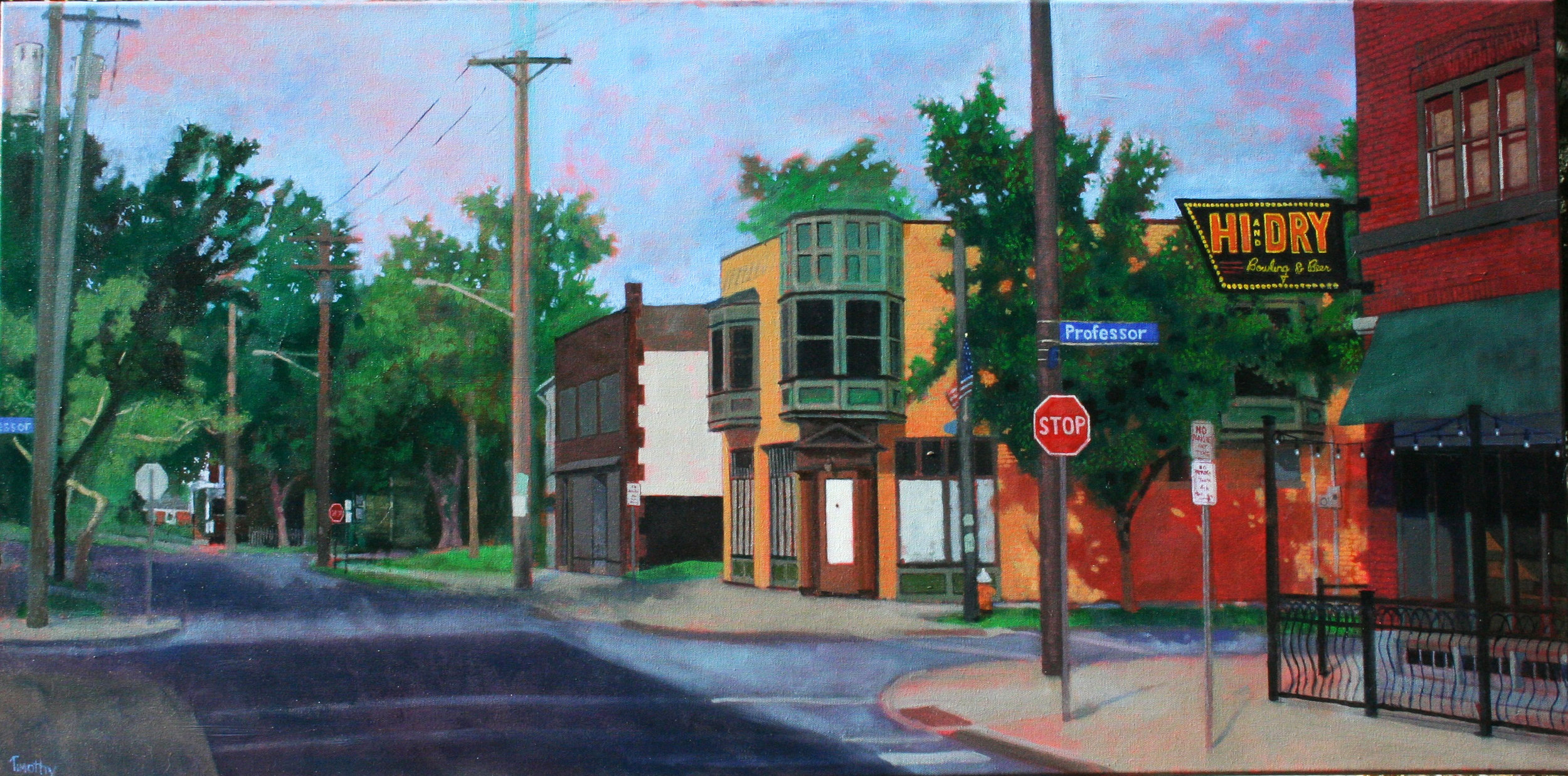 Literary Ave in Tremont (area of Cleveland) painted on location. About 12-two hour sessions.