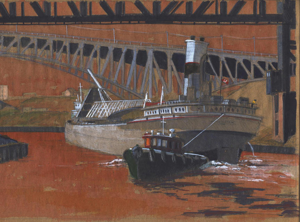 Towing Out The Mississagi, Cuyahoga River.jpg
