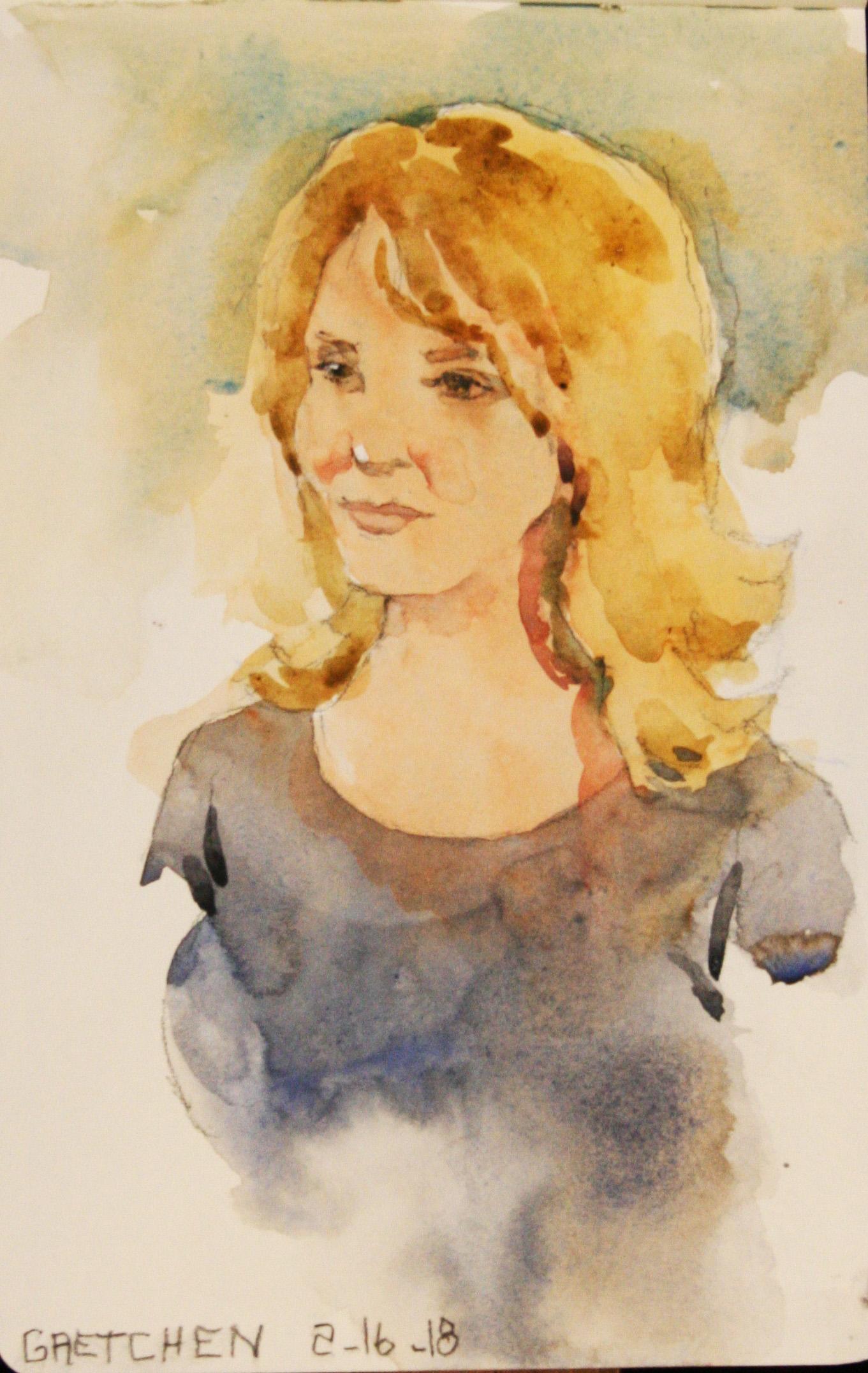 Jeff Suntala did this watercolor.