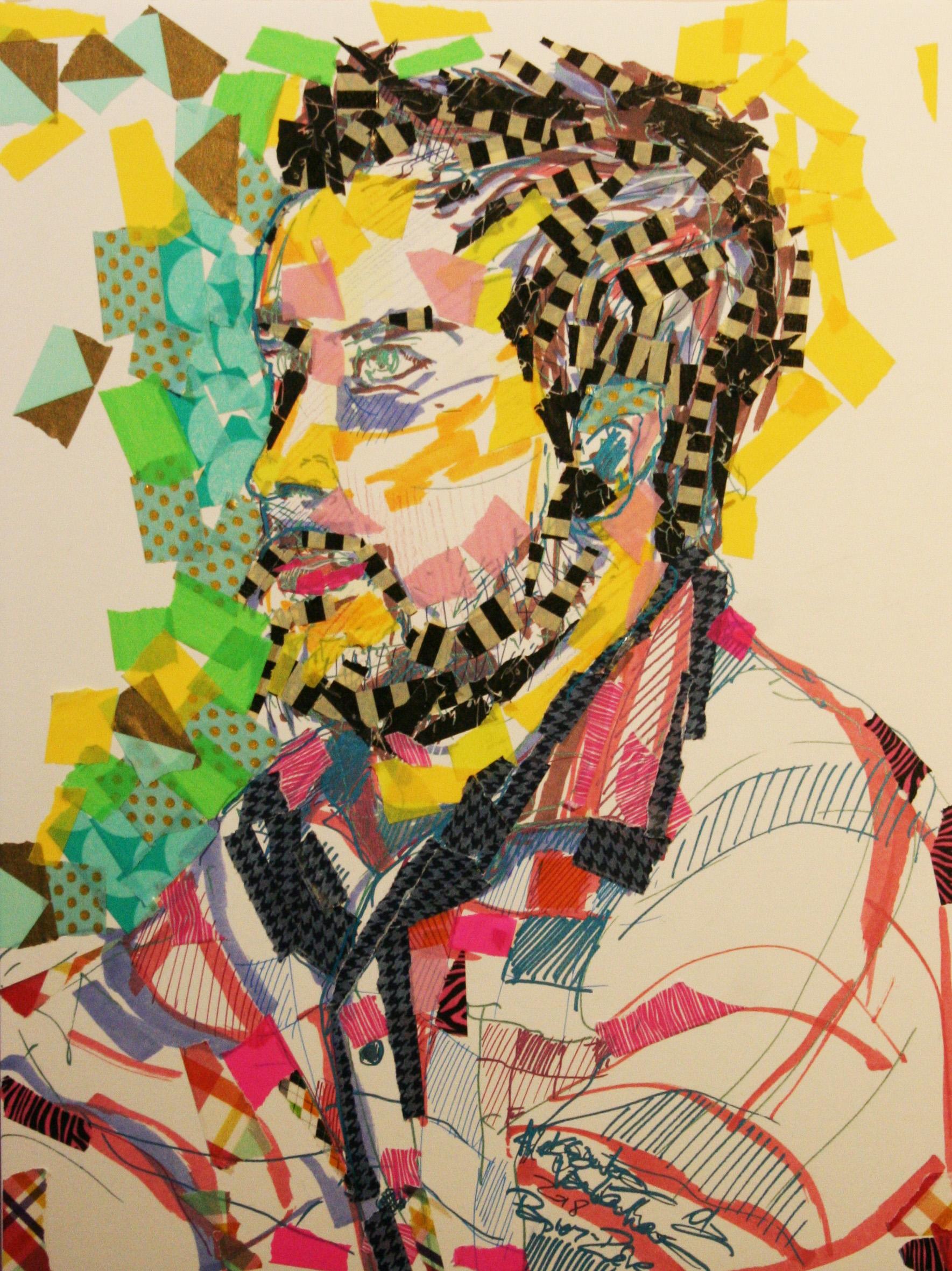 Aleksandra Vandenhove did this sticker portrait.