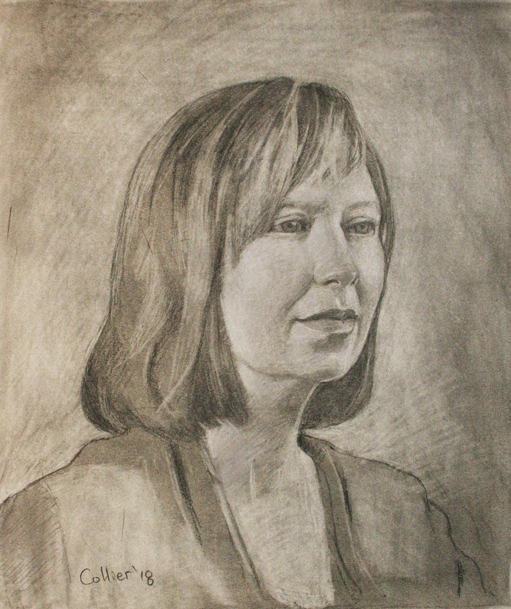 Howard Collier did this charcoal drawing.