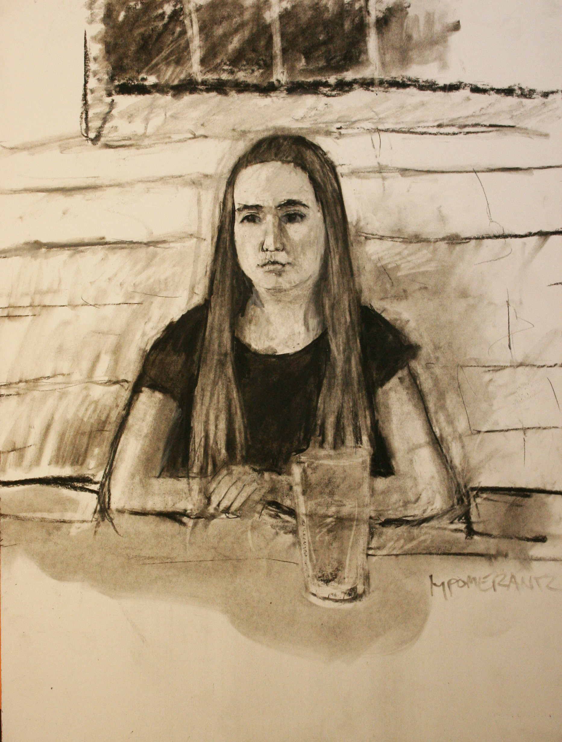 Michael Pomerantz did this charcoal and pastel drawing.