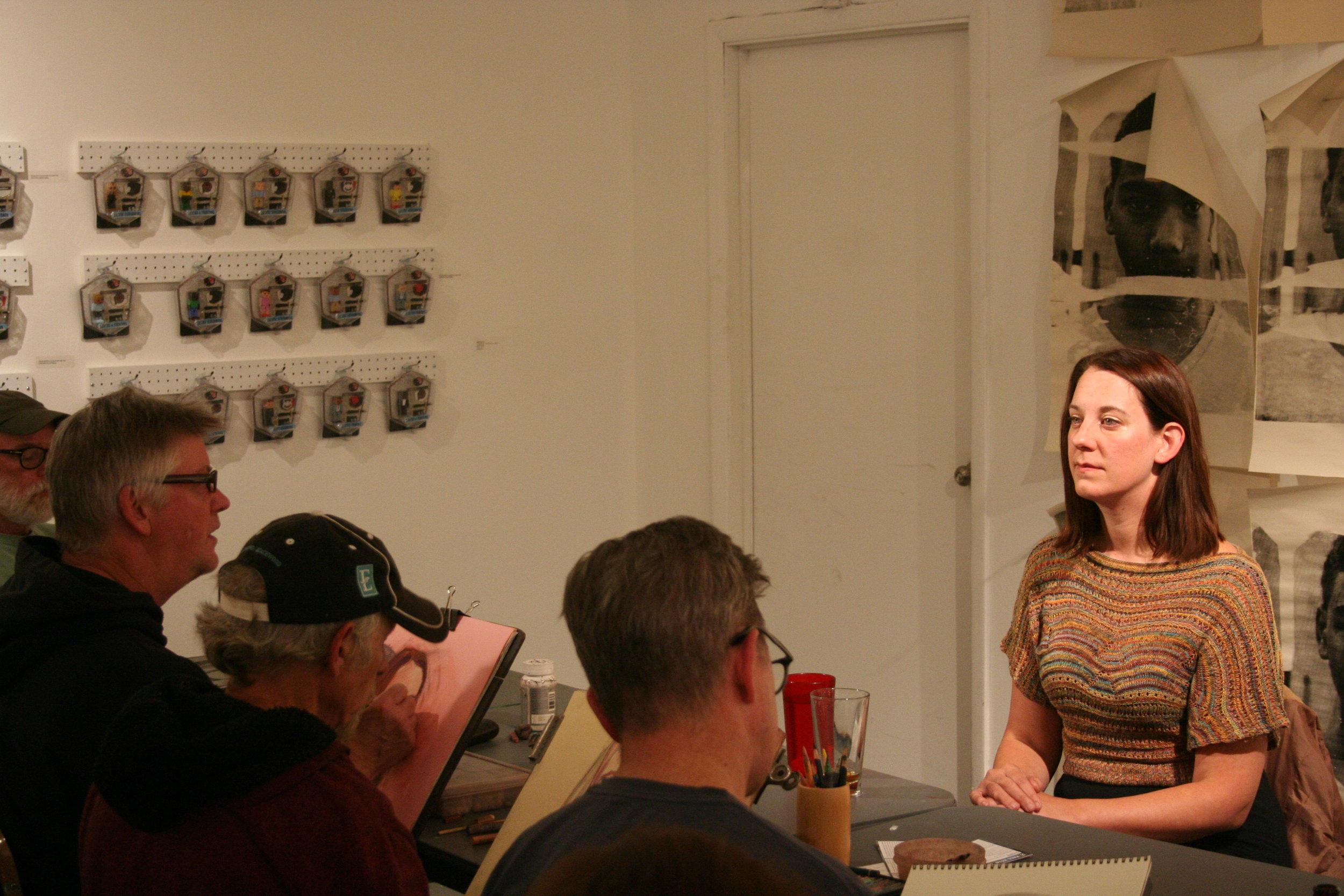 Drawing Jill Corey at Waterloo Arts 10-14-16