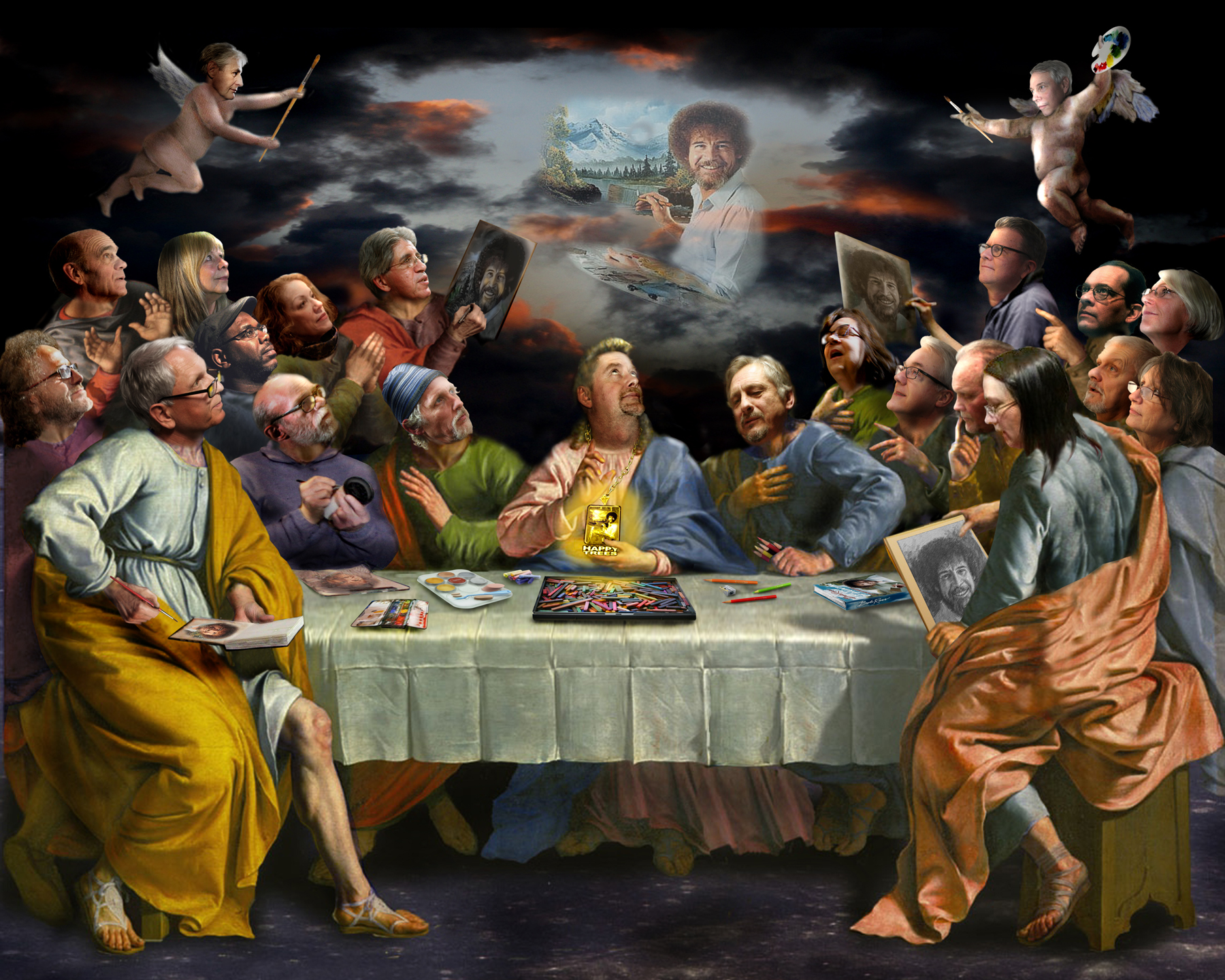 The Pretentious Cleveland Portrait Artists Last Supper. Photoshop courtesy of Brian Pierce.