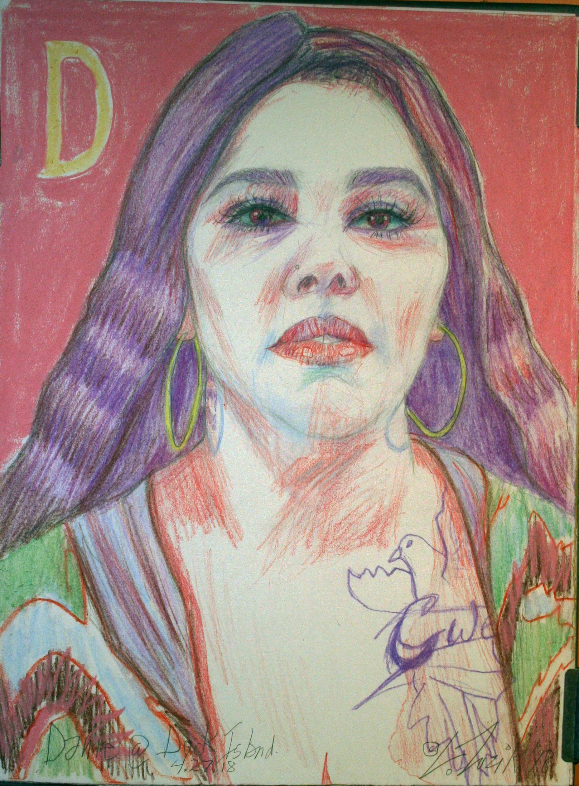 Larry Zuzik did this pastel drawing.