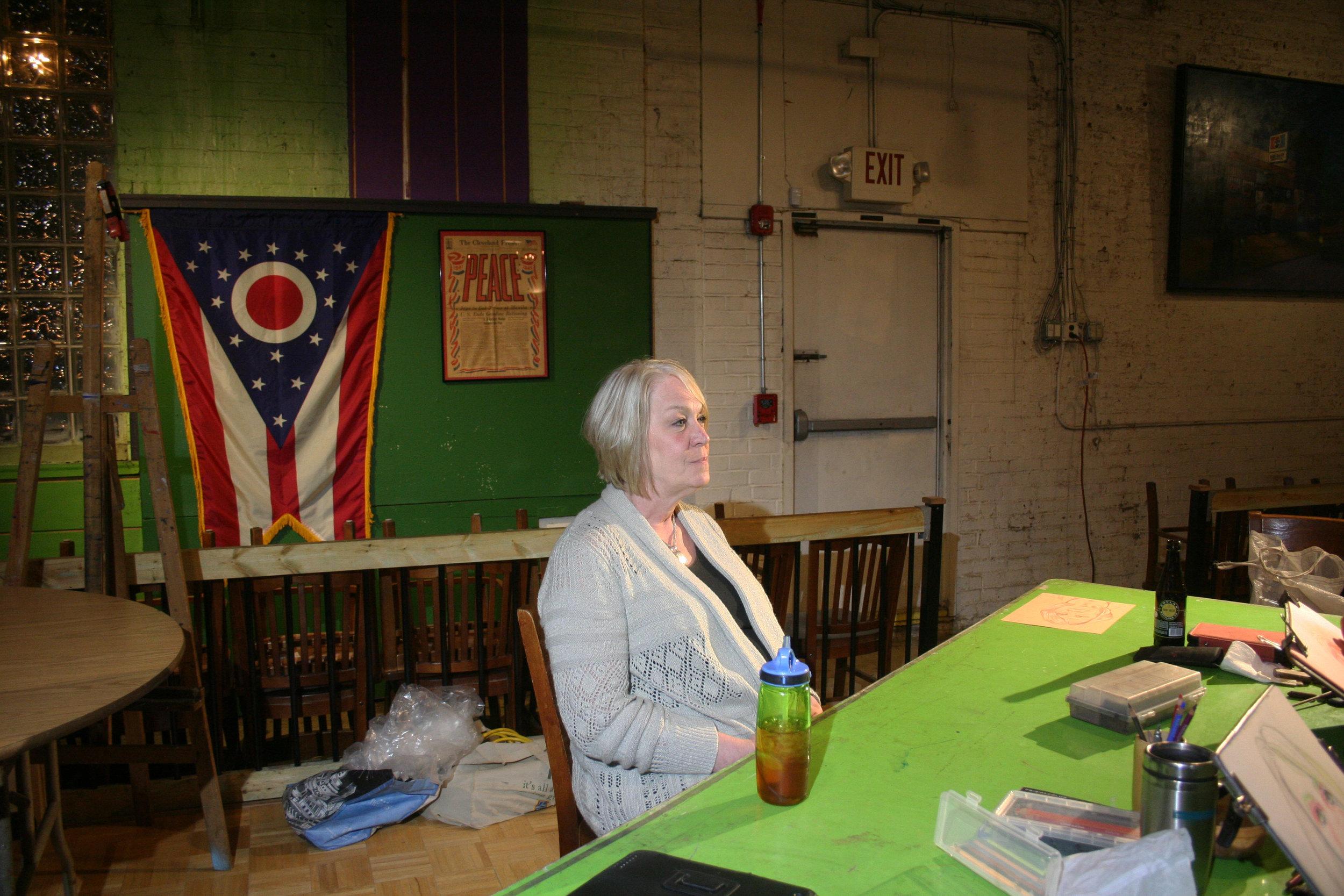 Maria Butler Flanagan at Forest City Brewery. 5-4-18.JPG