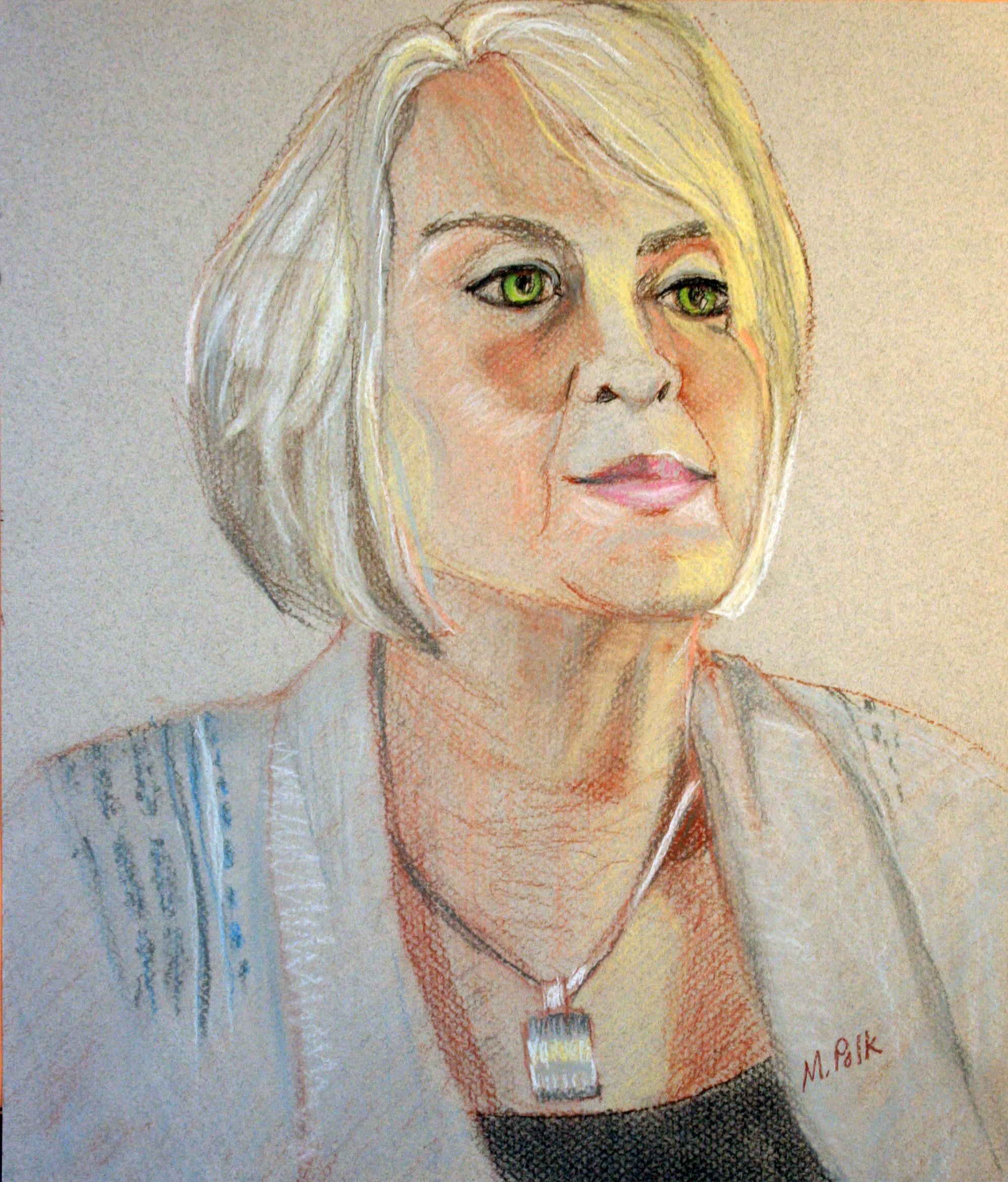 Maria Polk did this pastel drawing.