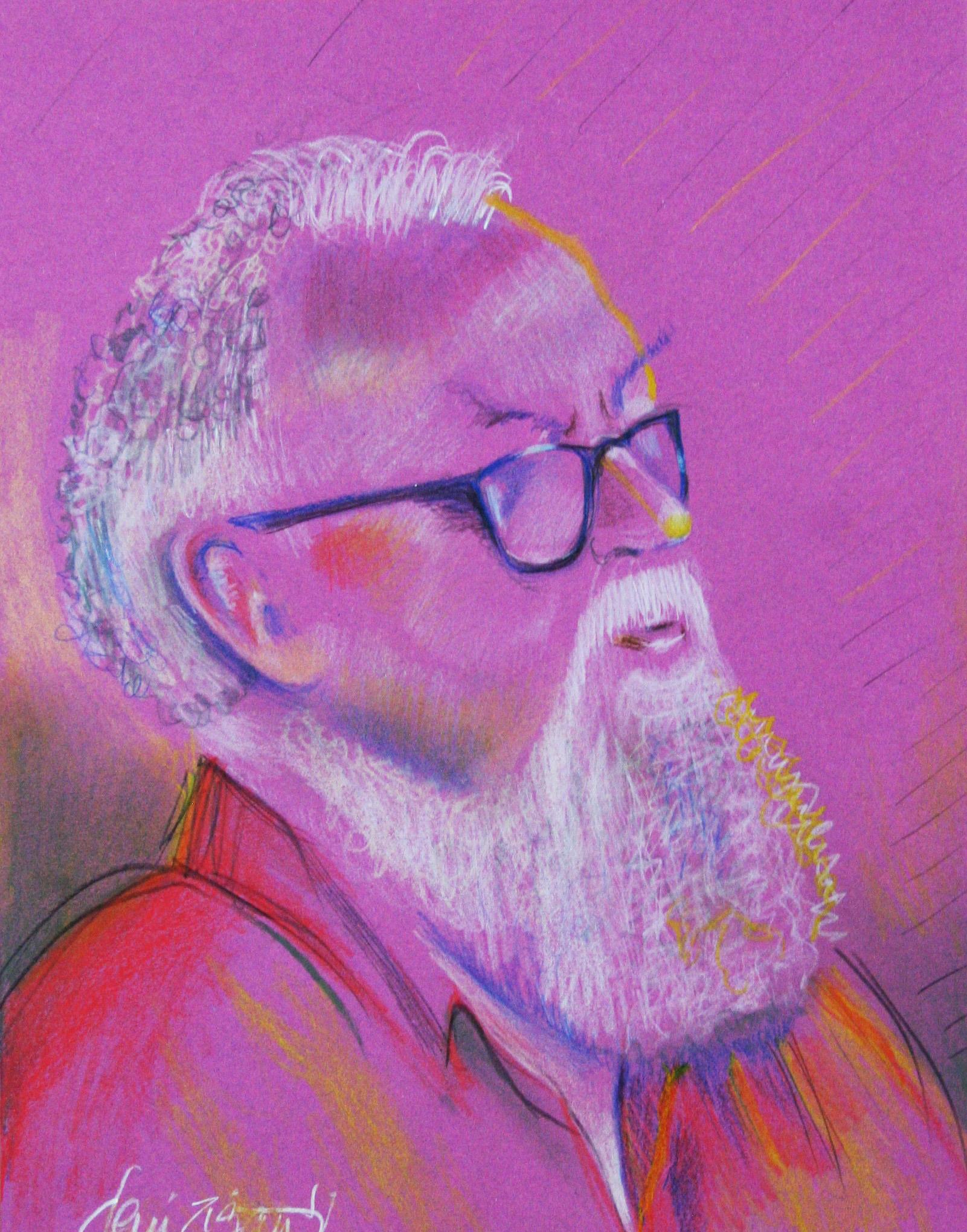 Deni Ziganti did this colored pencil drawing.