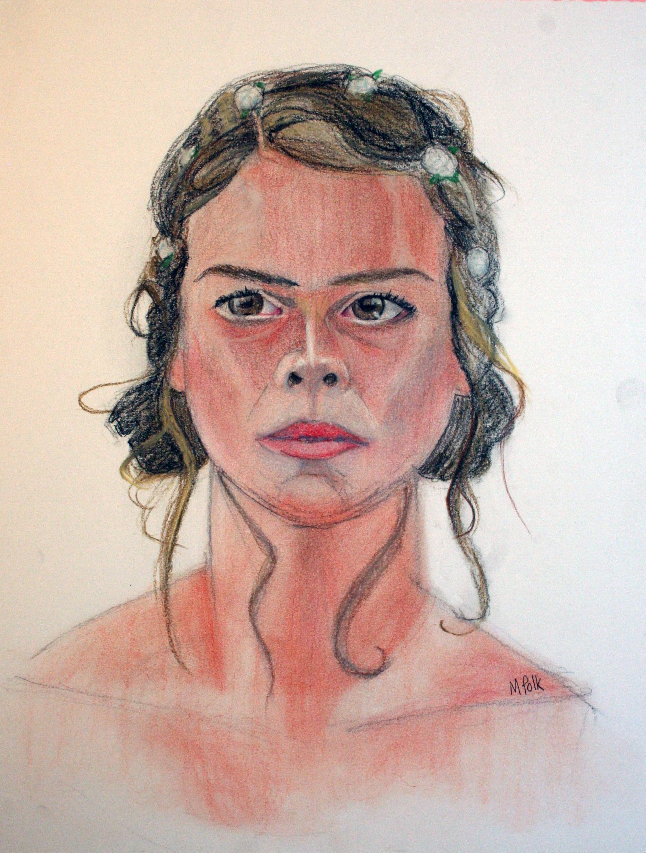 Maria Polk did this pastel pencil drawing.
