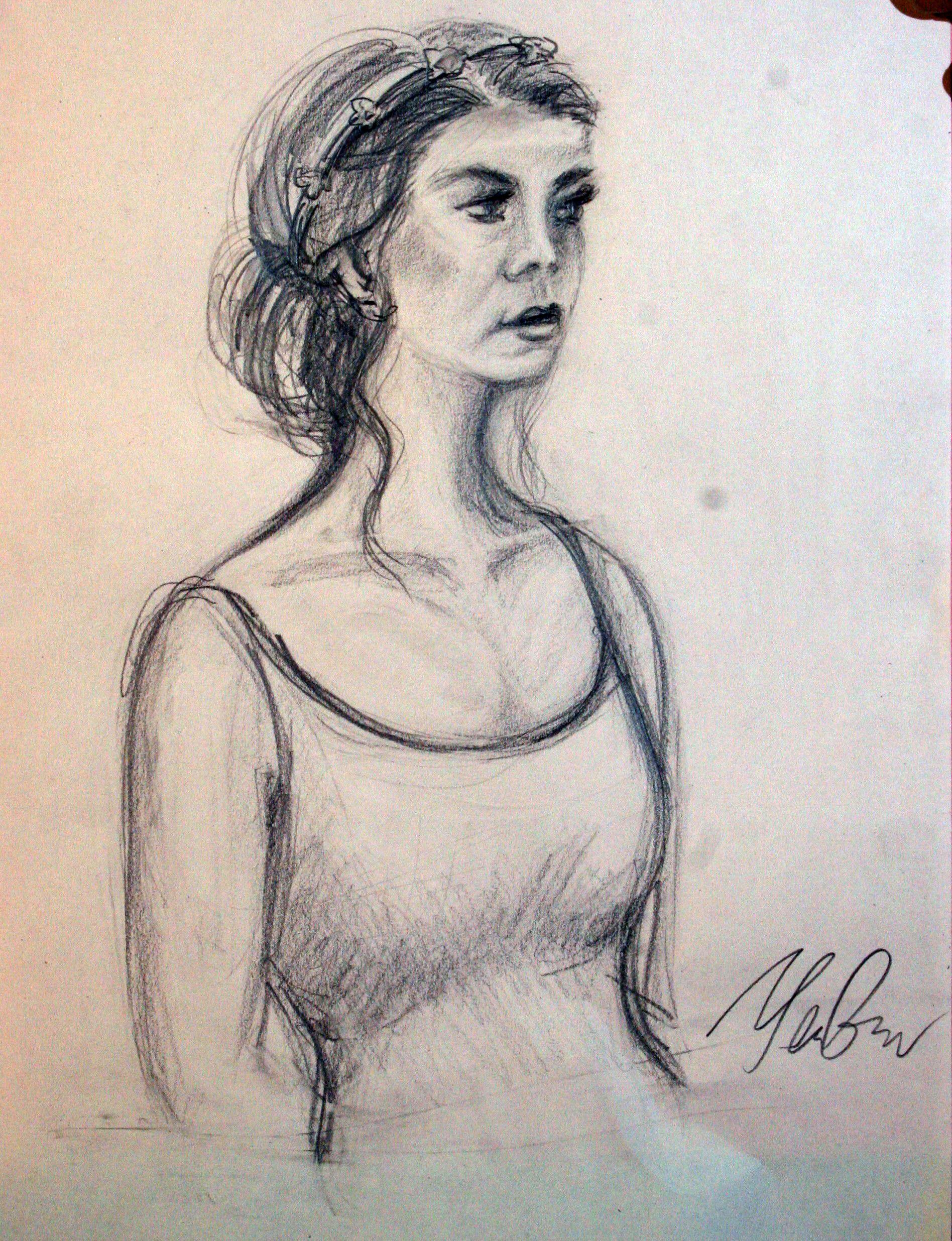 Yelena Ganyukov did this drawing.