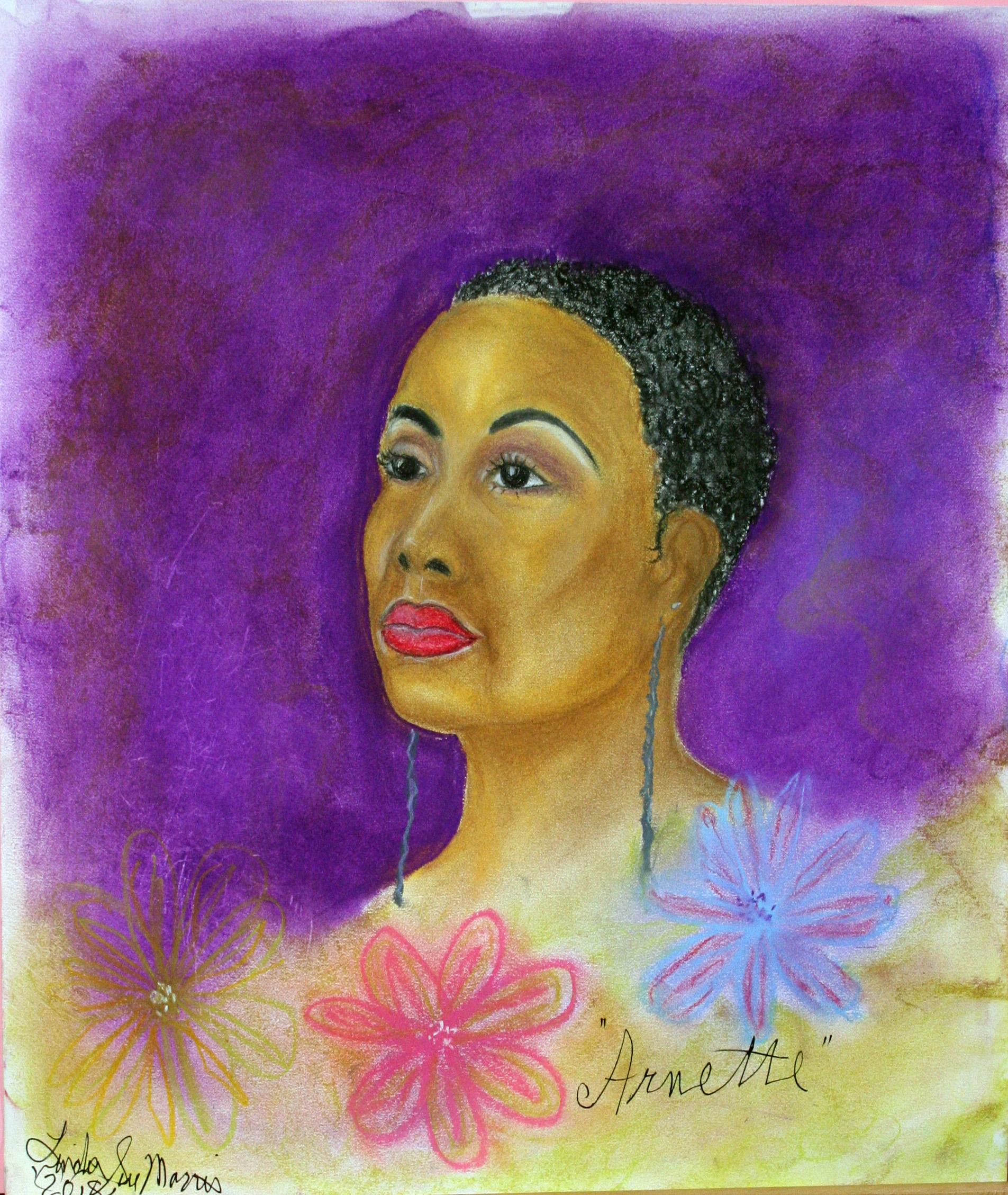Linda Sue Morris did this pastel drawing.