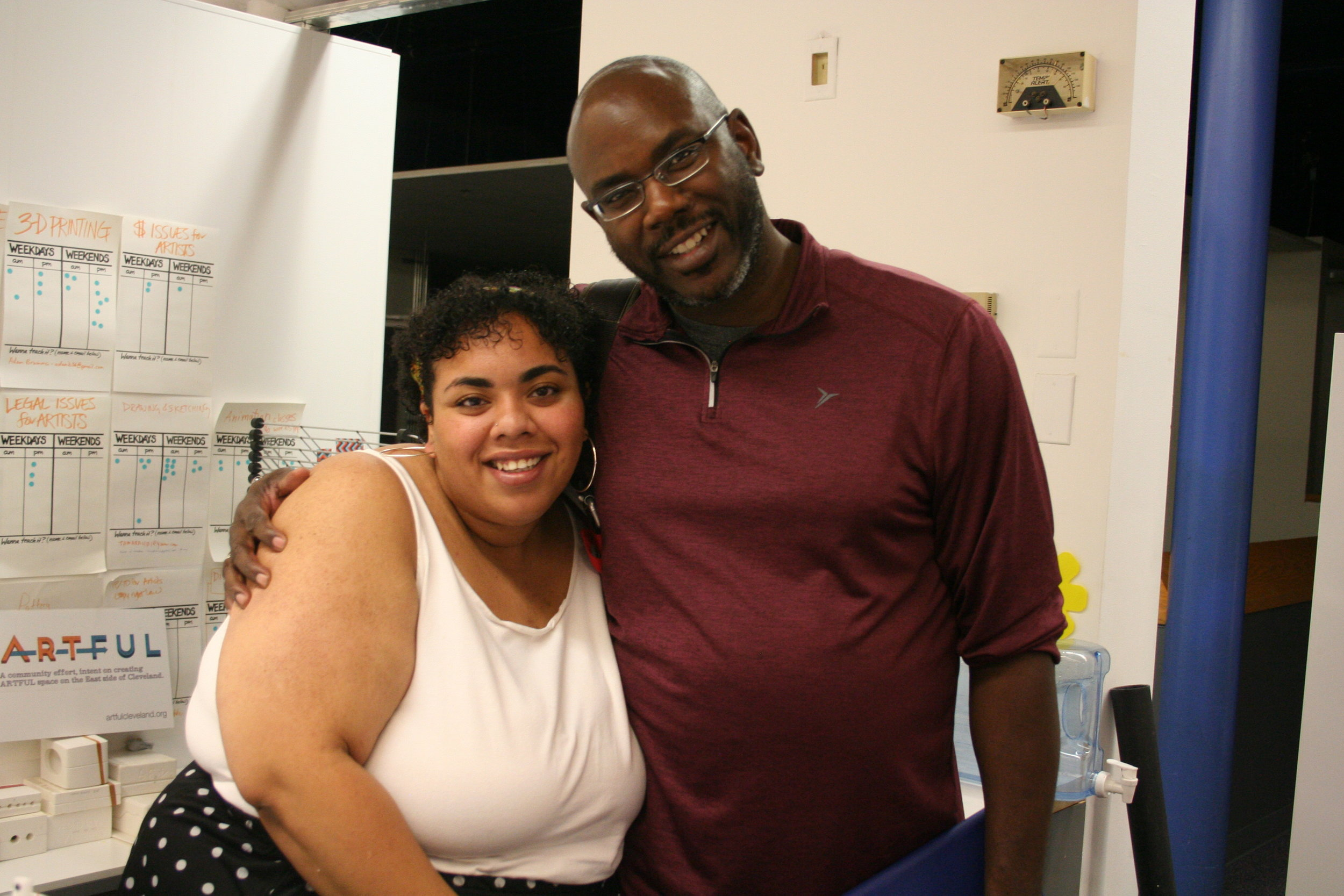 Anthony J. Robinson with his daughter Sierra.