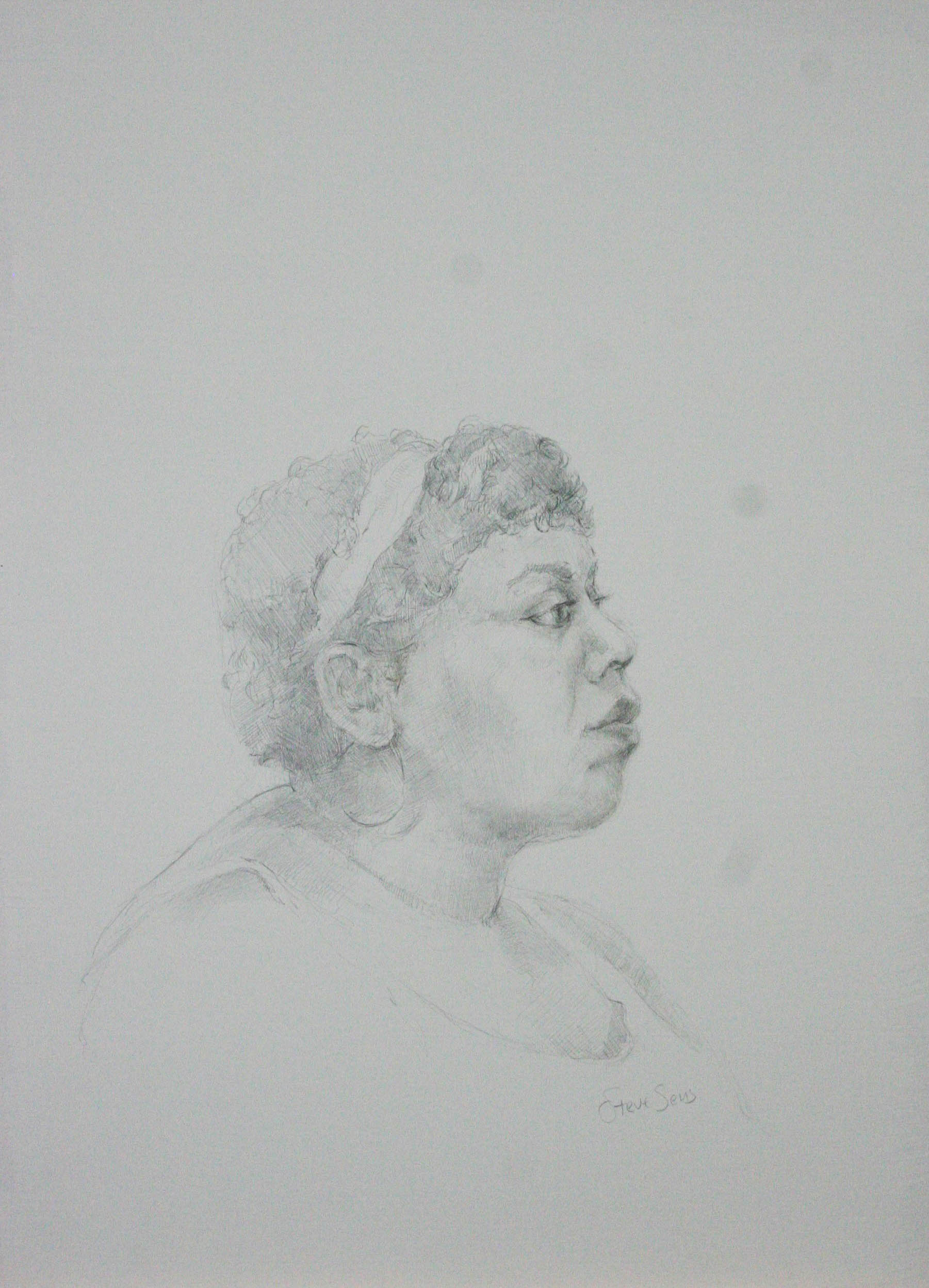 Steven Sens did this silverpoint drawing.
