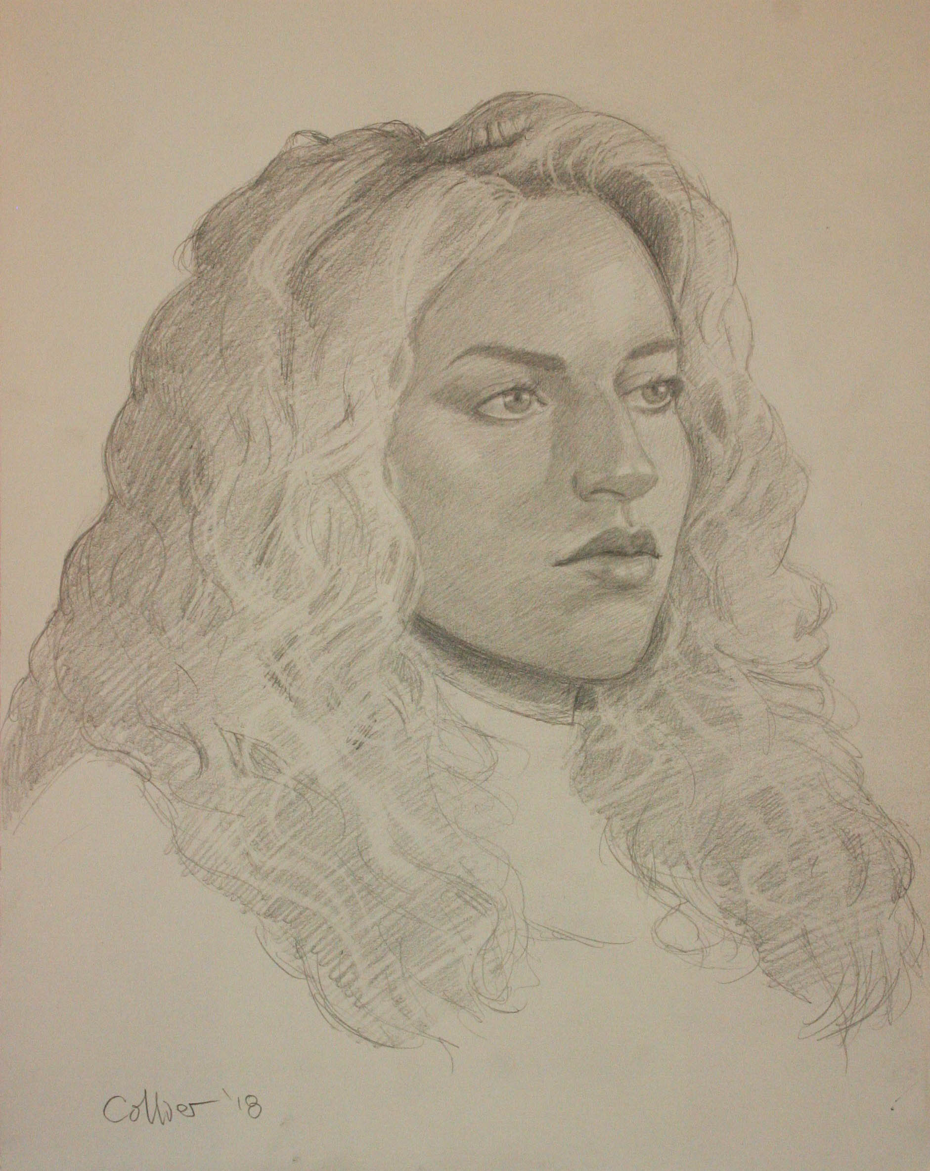 Howard Collier did this pencil drawing.
