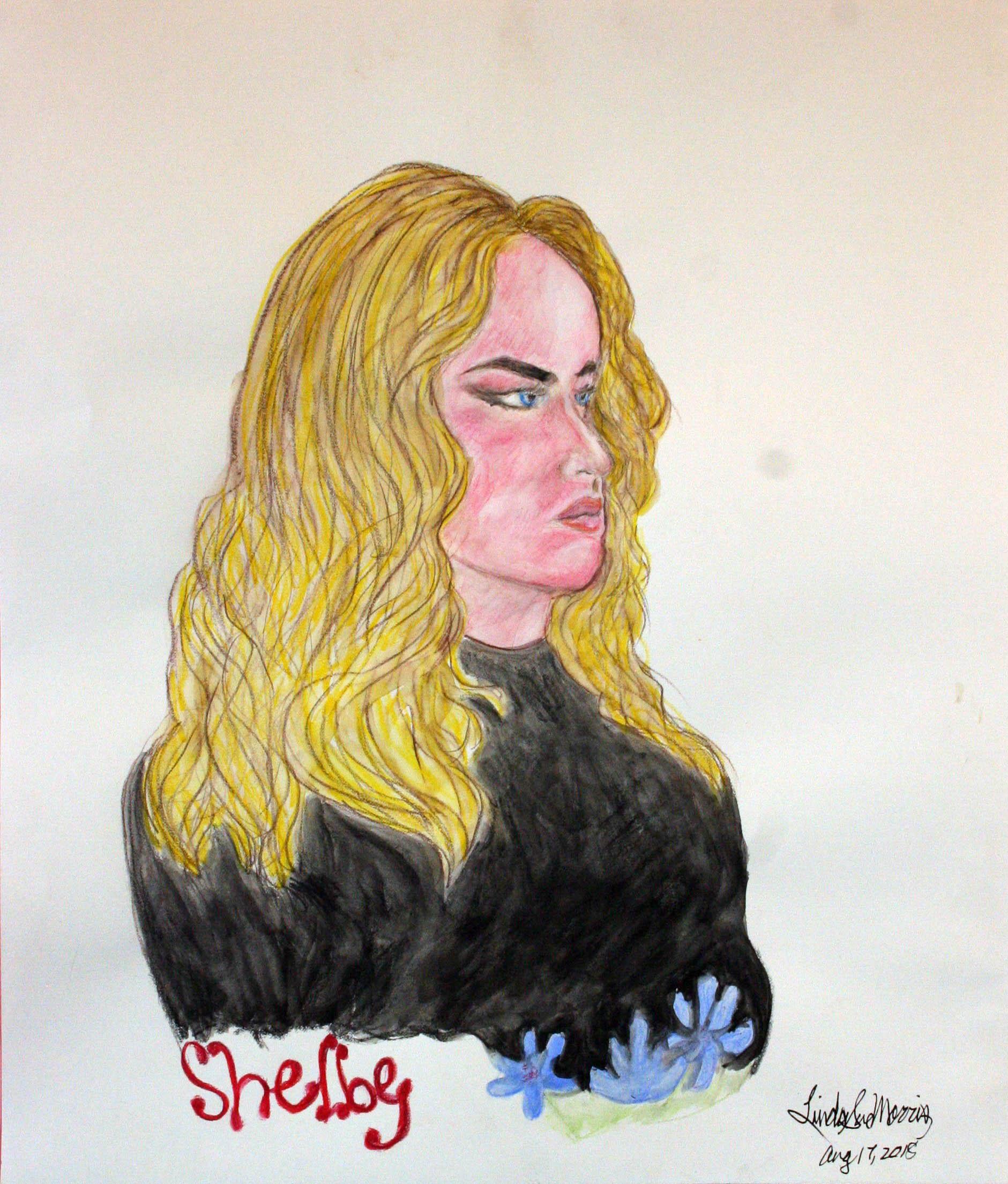 Linda Sue Morris did this watercolor pencil? drawing.