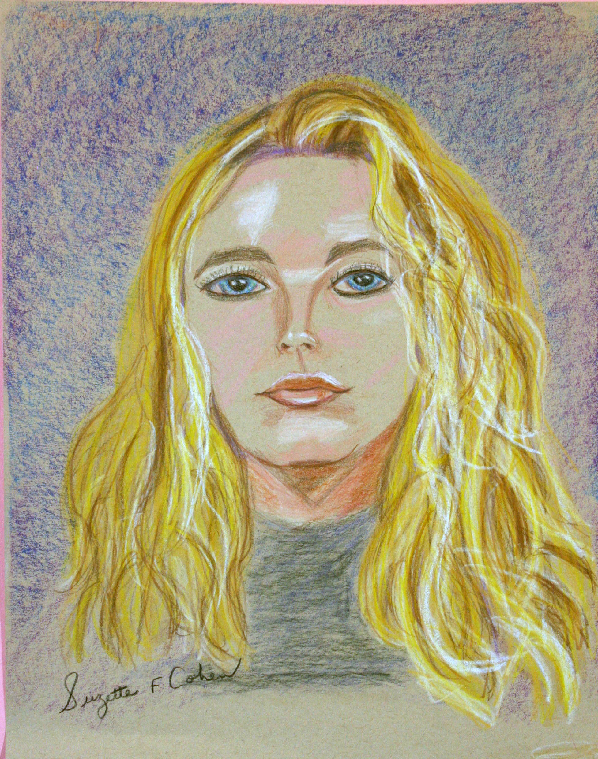 Suzette Cohen did this pastel drawing.