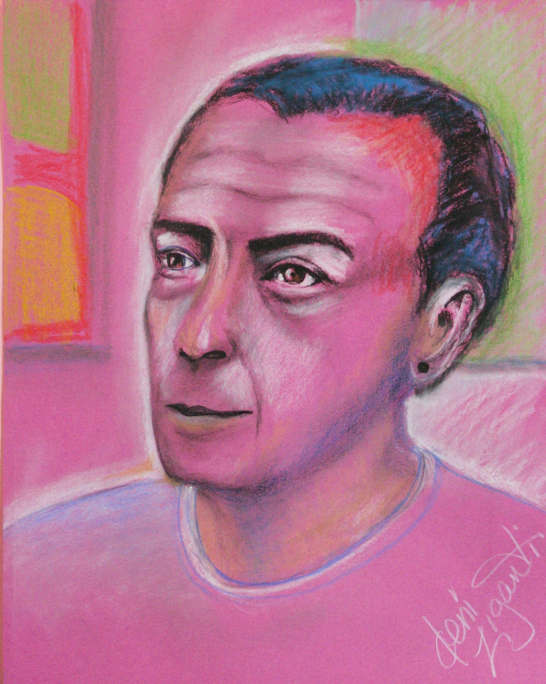 Deni Ziganti did this pastel drawing.