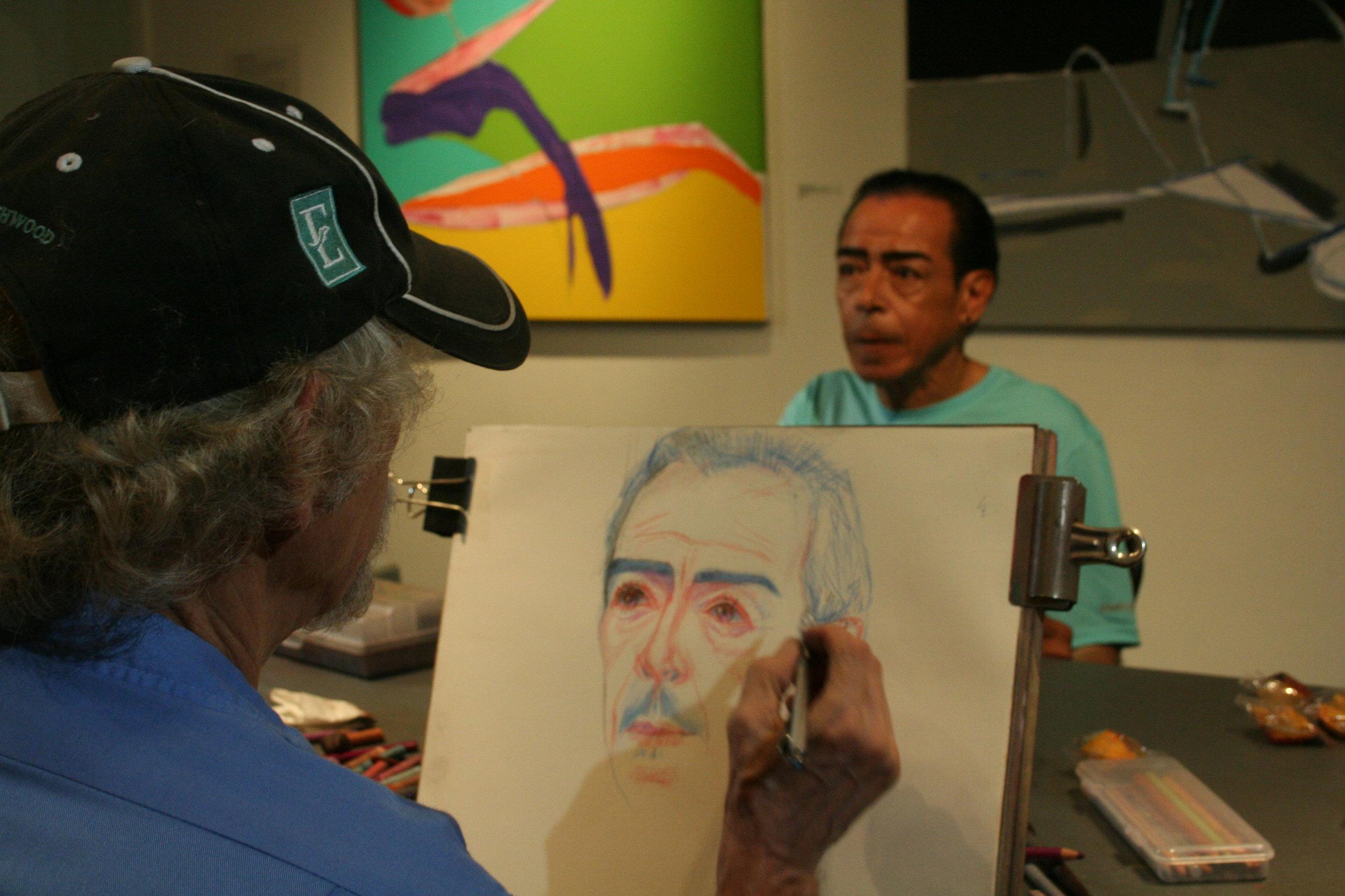 Larry Zuzik drawing Viso.