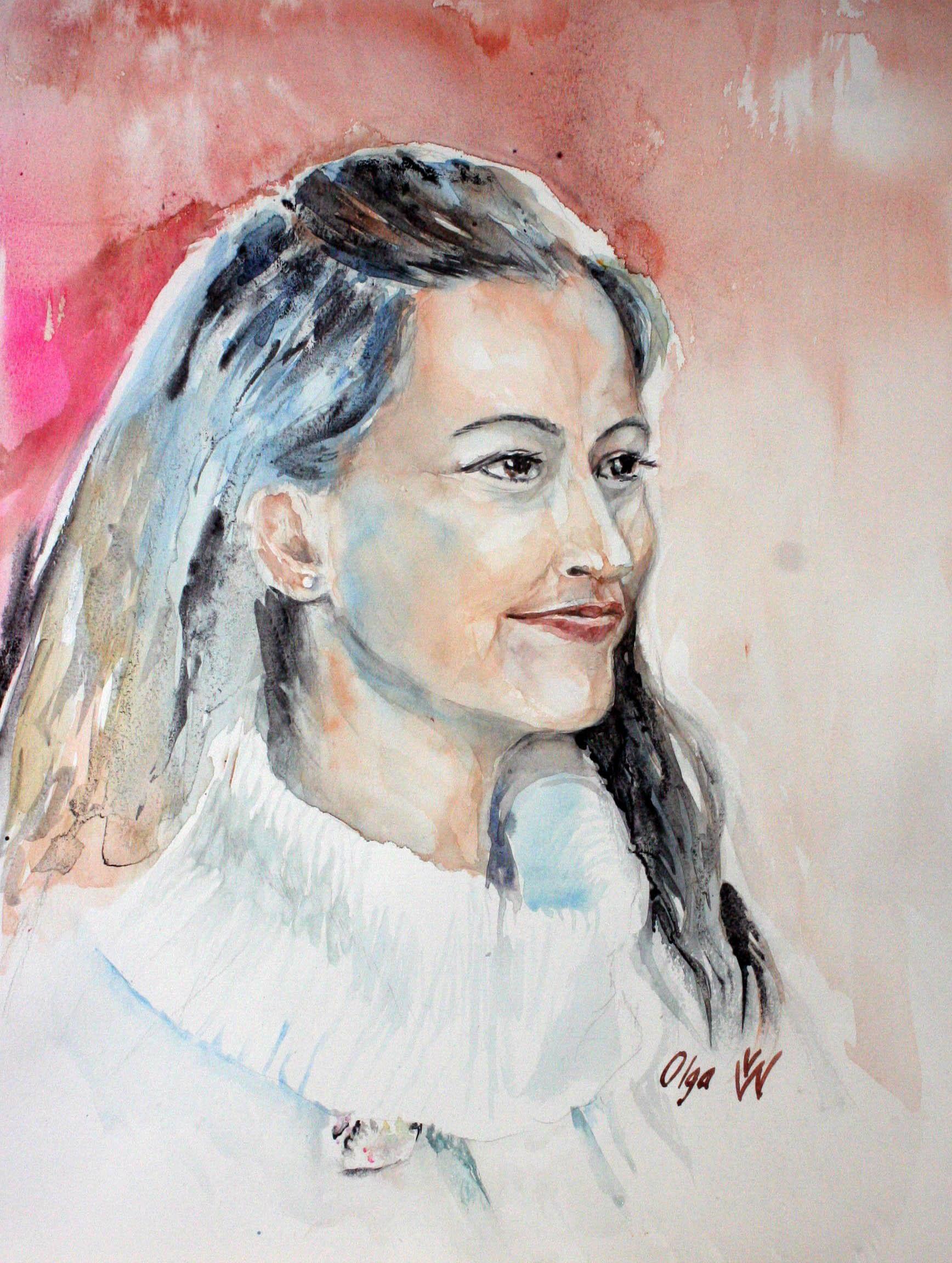 Olga Weinstein did this watercolor.