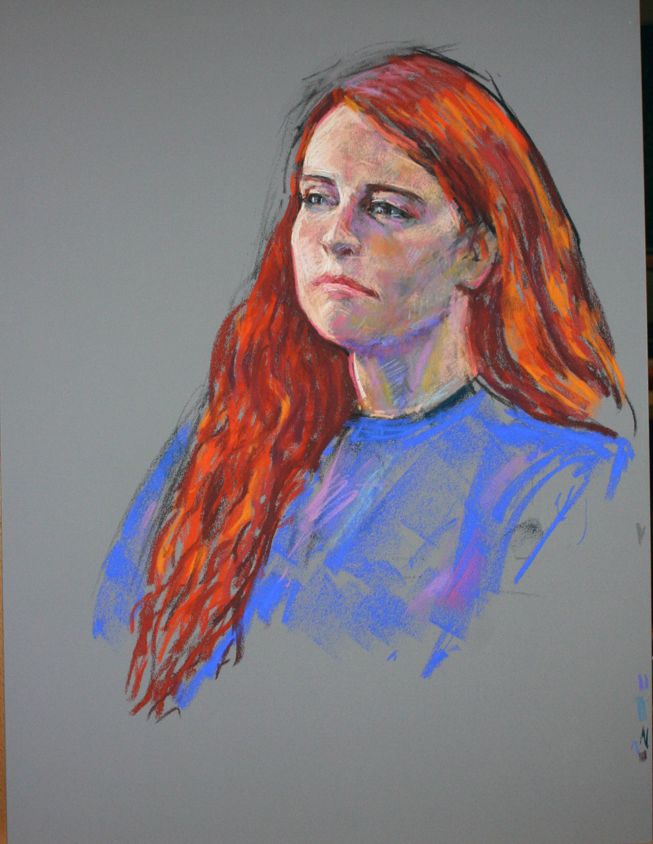 David King did this pastel drawing of his daughter.