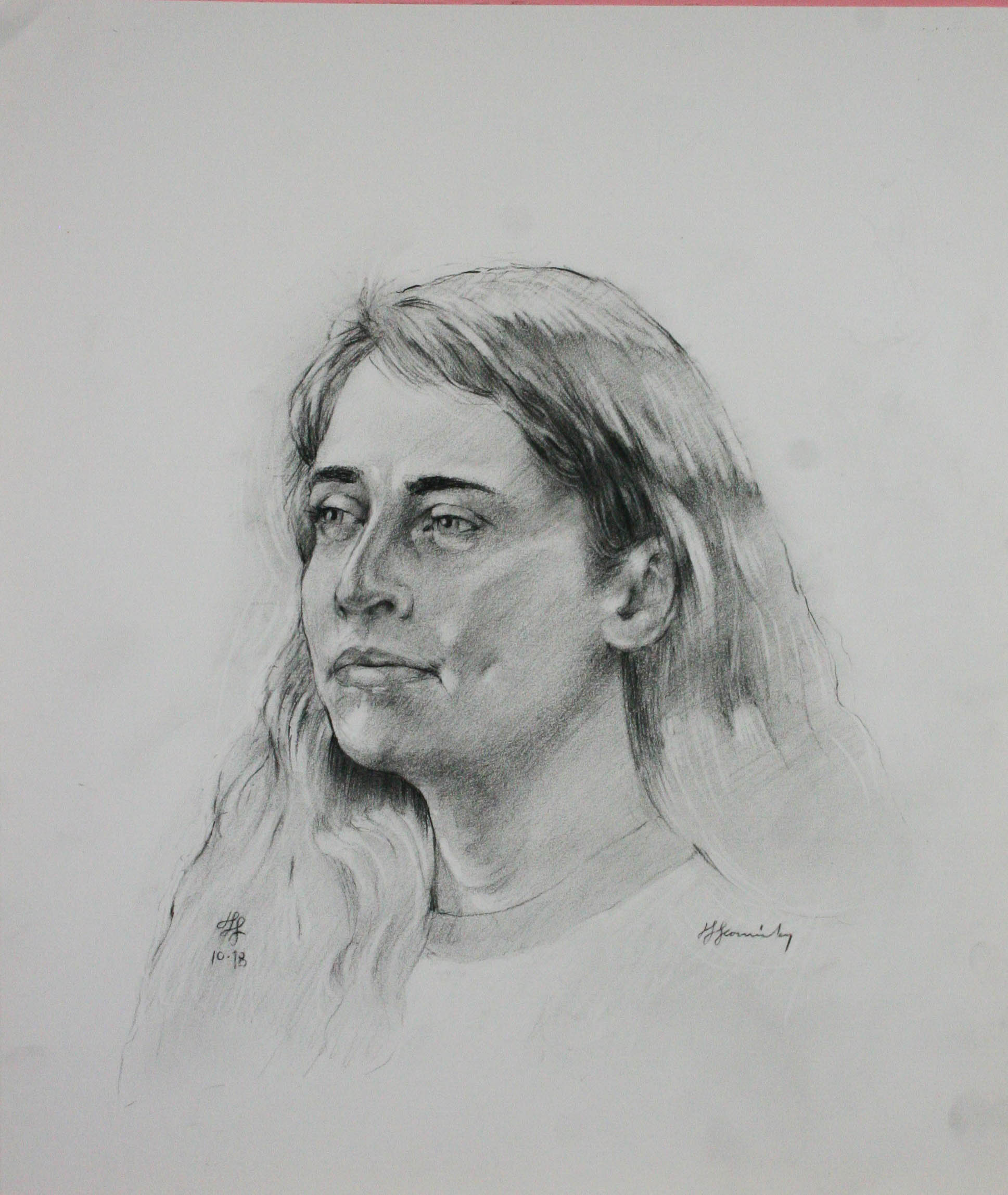 John Scavnicky did this charcoal drawing.