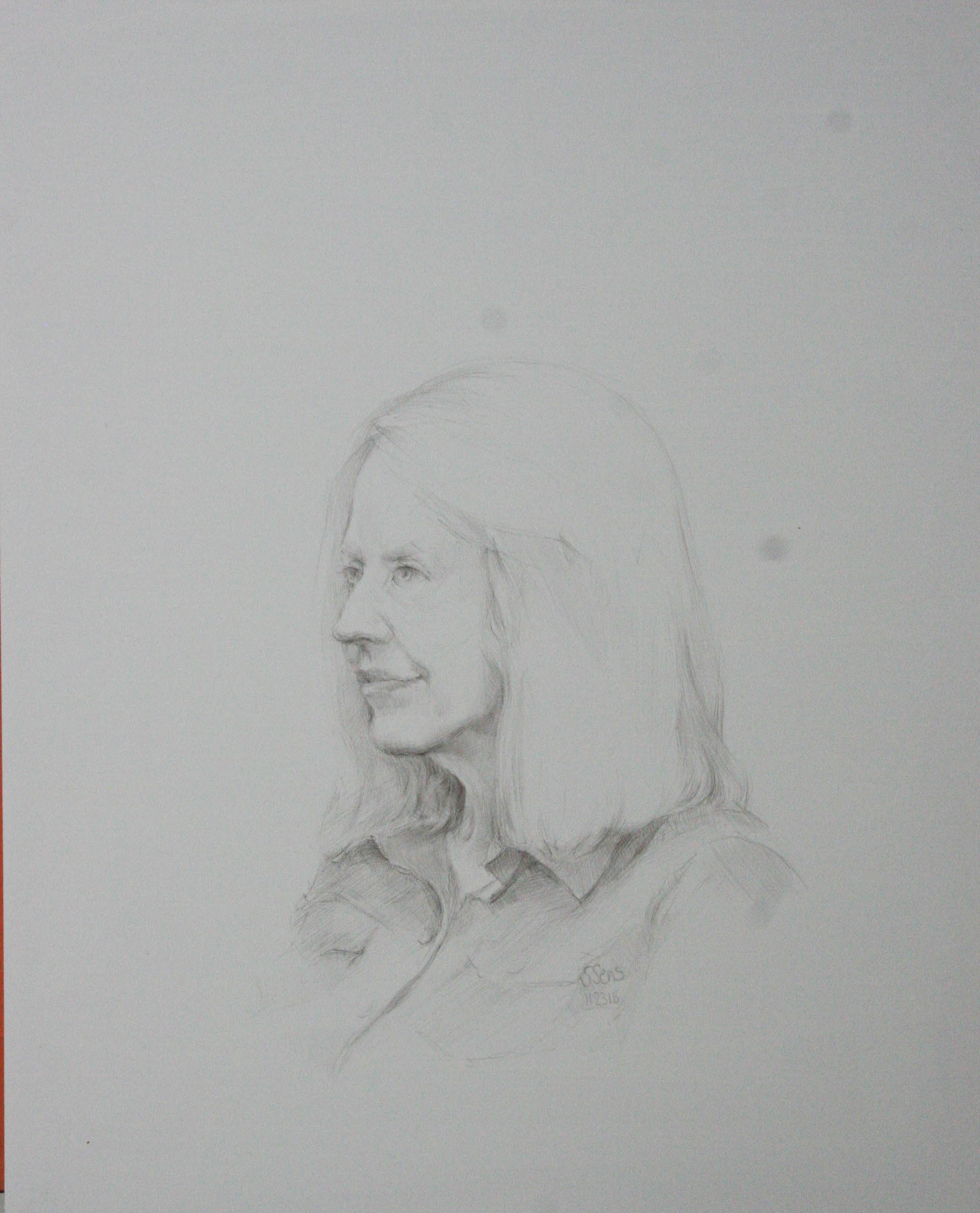 Steve Sens did this silverpoint drawing.