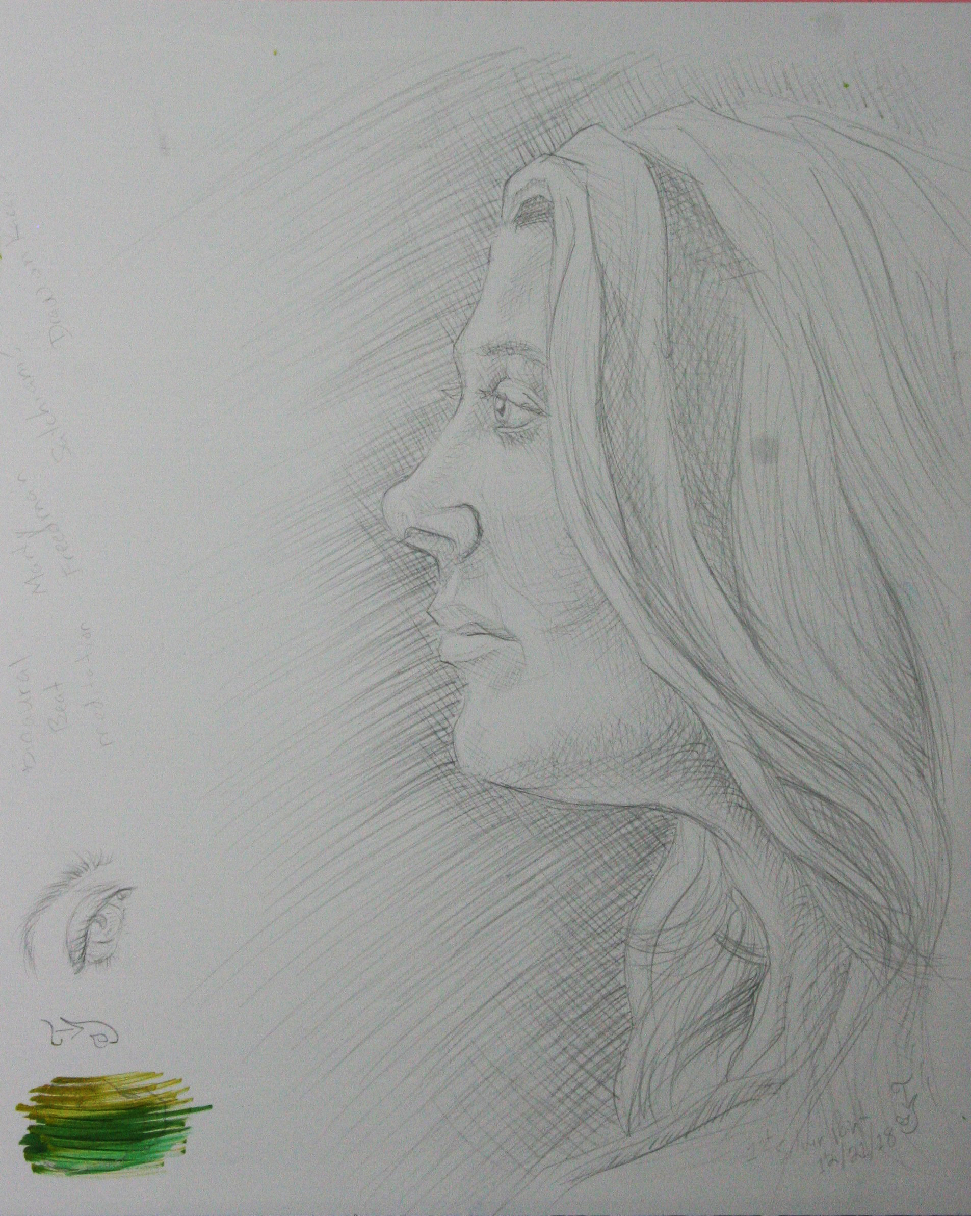 Cecelia Ivy Price did this silverpoint drawing.