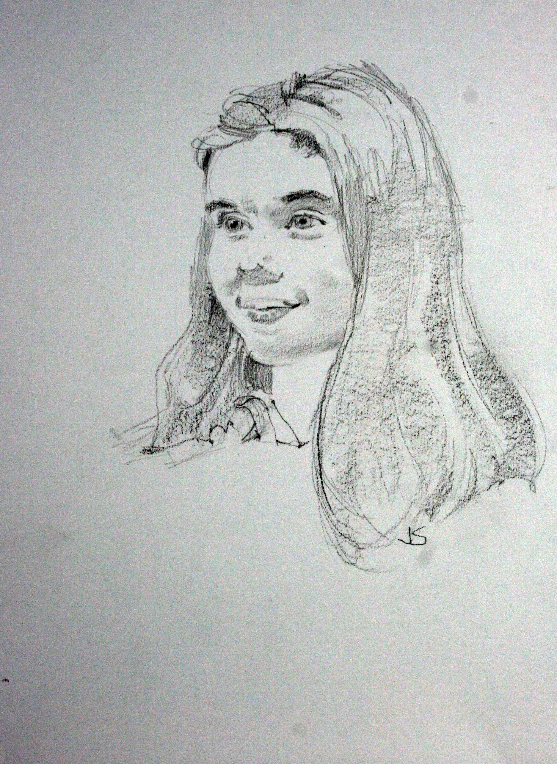 Jeff Suntala did this drawing of Tillie.